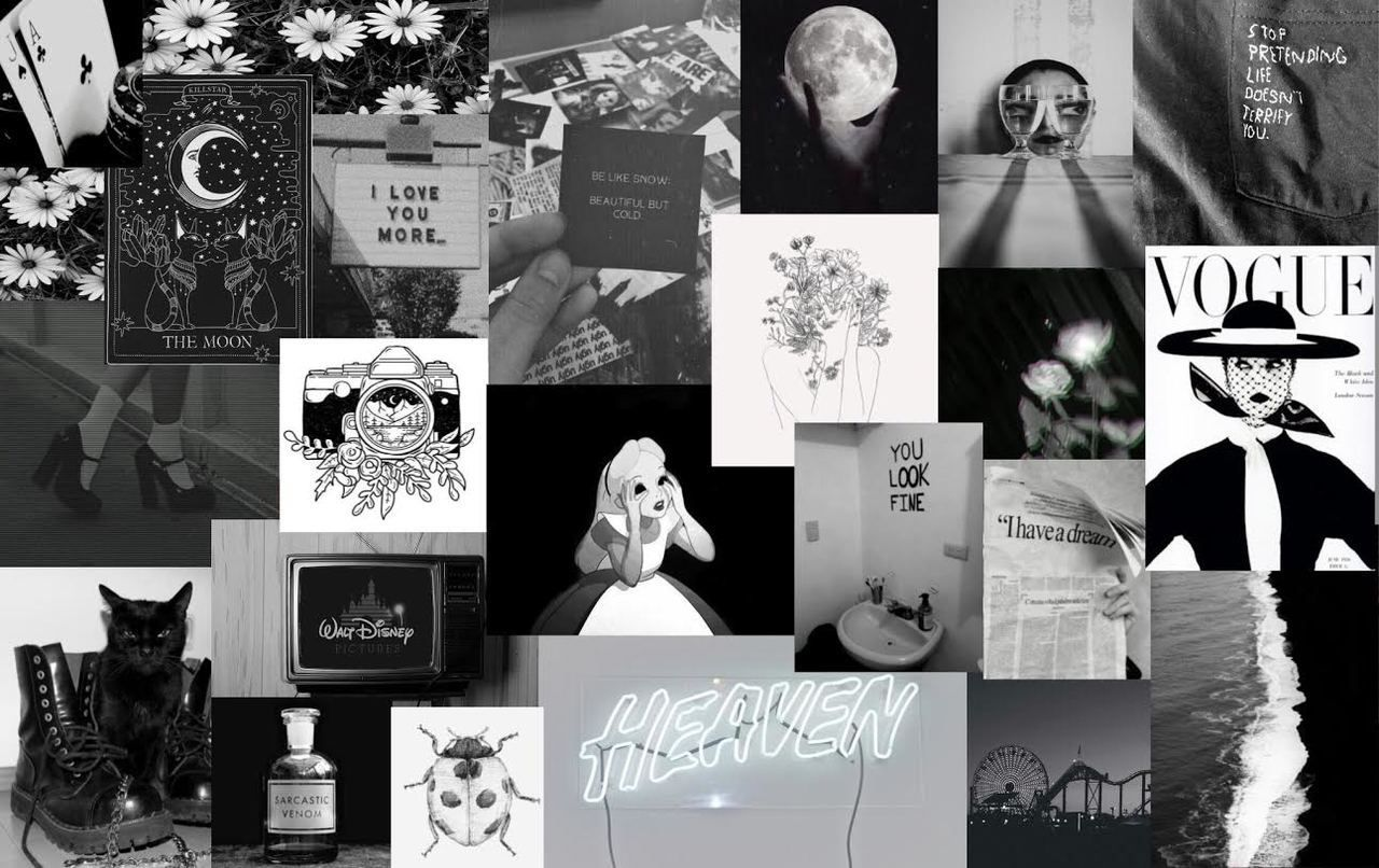 1280x806 Aléatoire — Here is a black and white collage i made, what's...