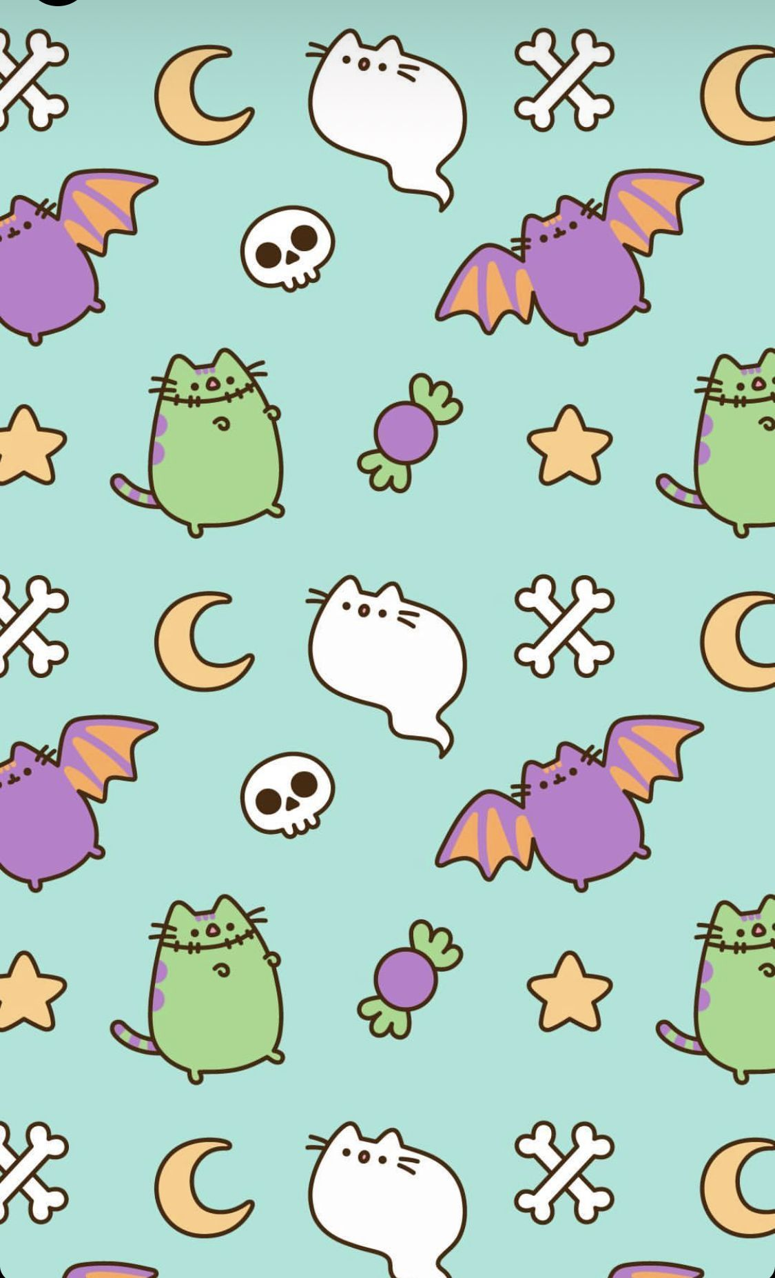 1125x1853 Pin by Kelly Neal on Wallpapers in 2019 | Pusheen, Halloween ...