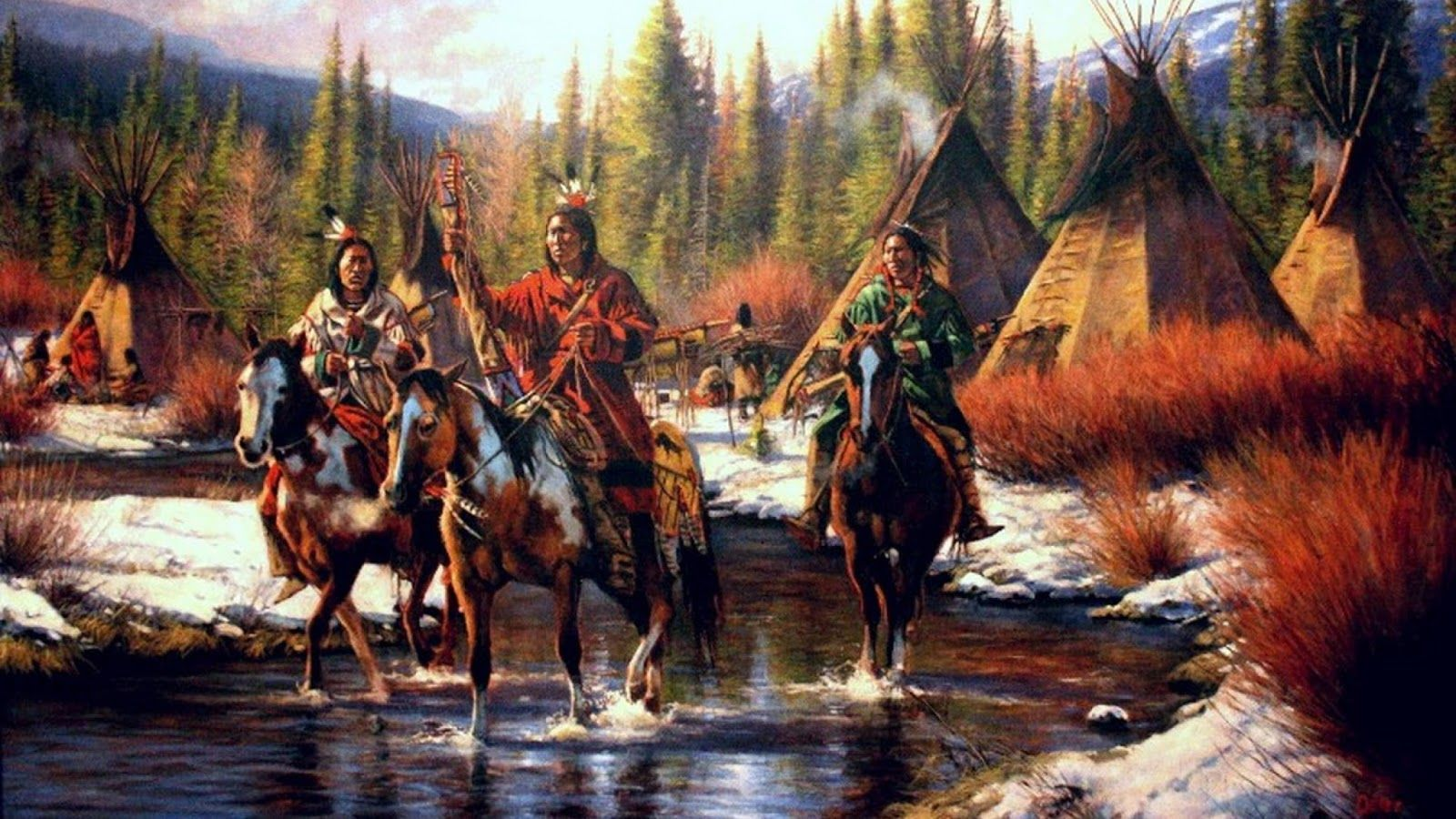 1600x900 American Indian Teachings: Teepee in the Water | Humans Are Free ...