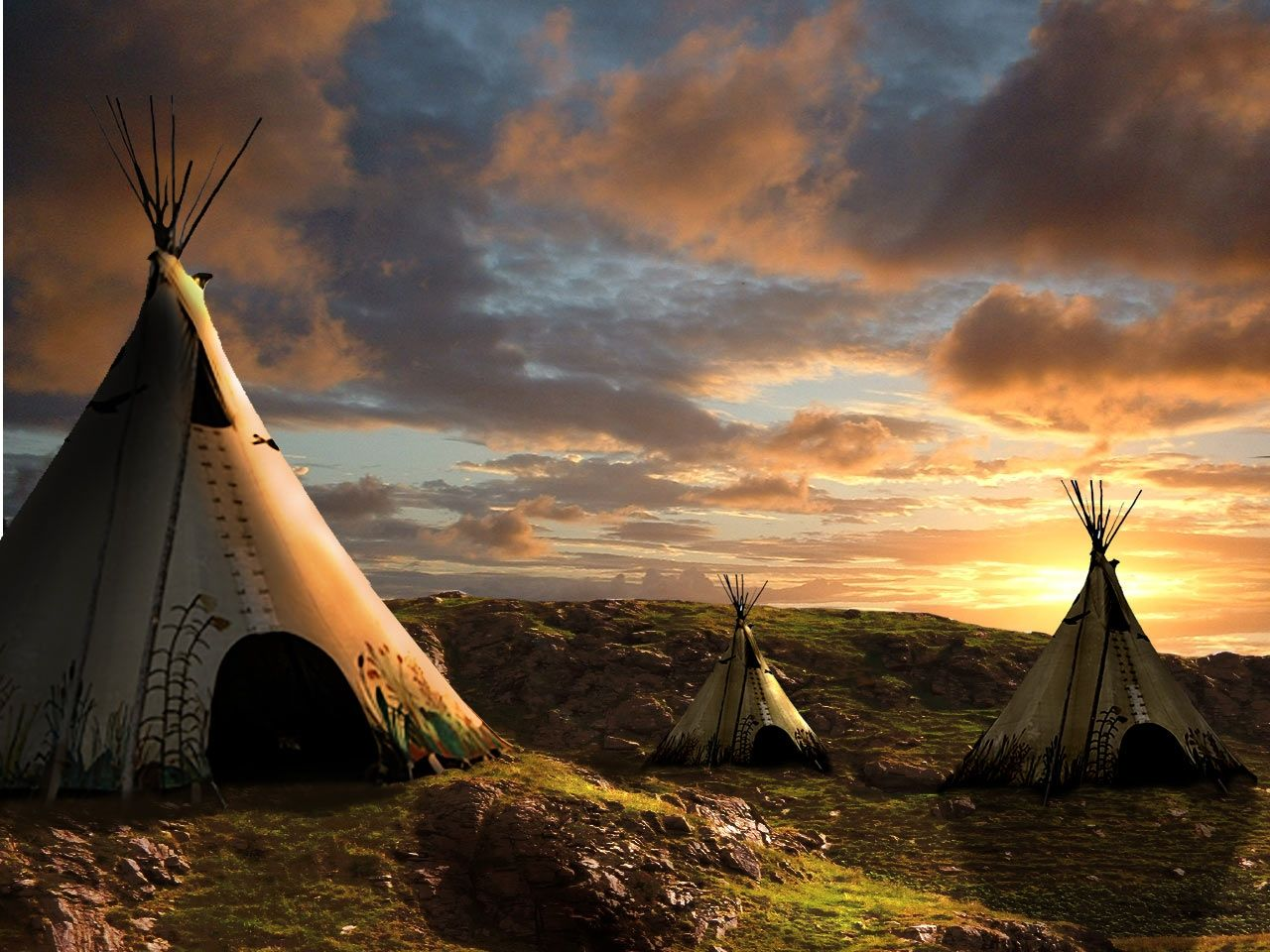 1280x960 Sunset picture, by George55 for: teepee photoshop contest - Pxleyes.com