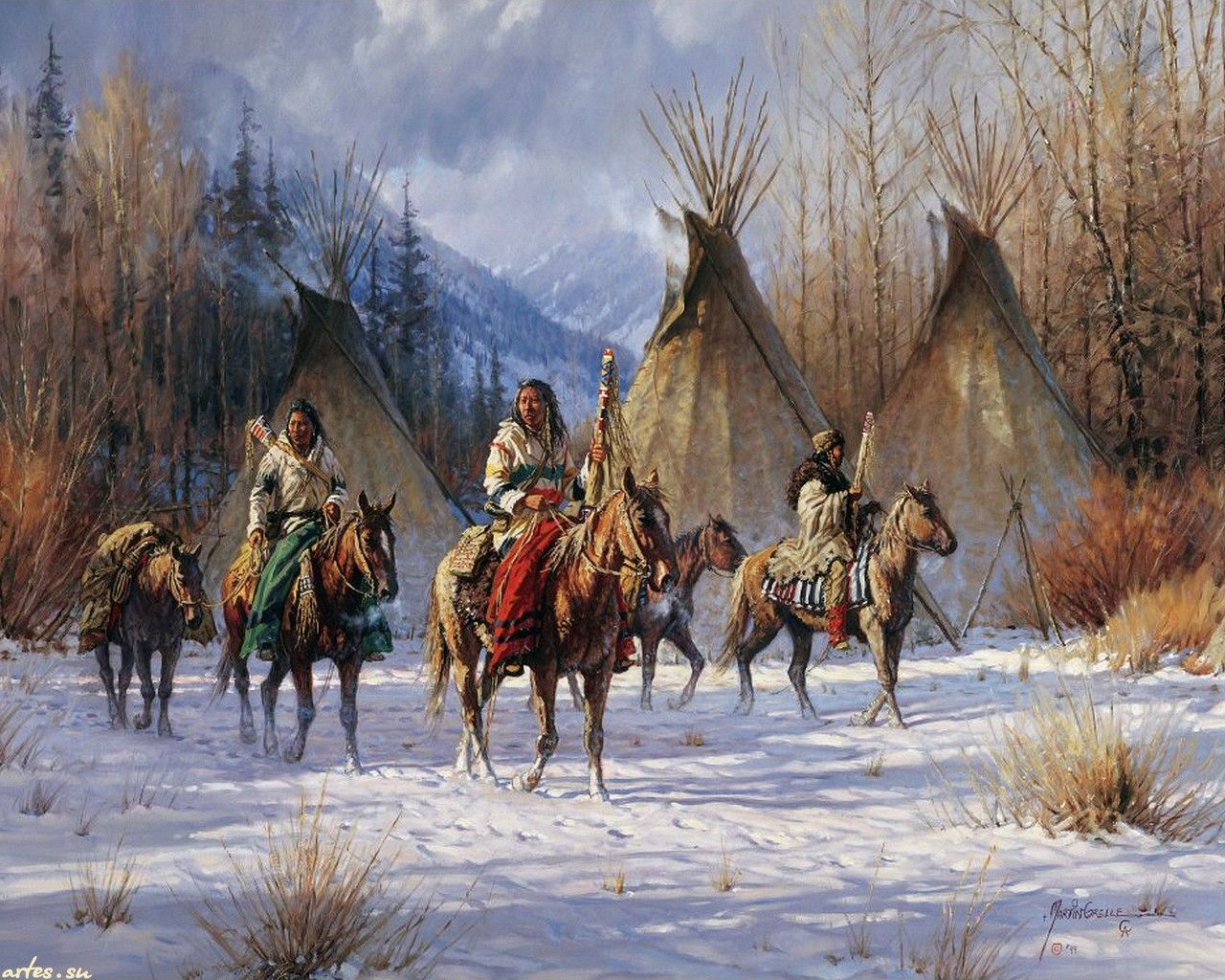 1280x1024 Forgotten Skills That Helped The Native Americans Survive Winter ...