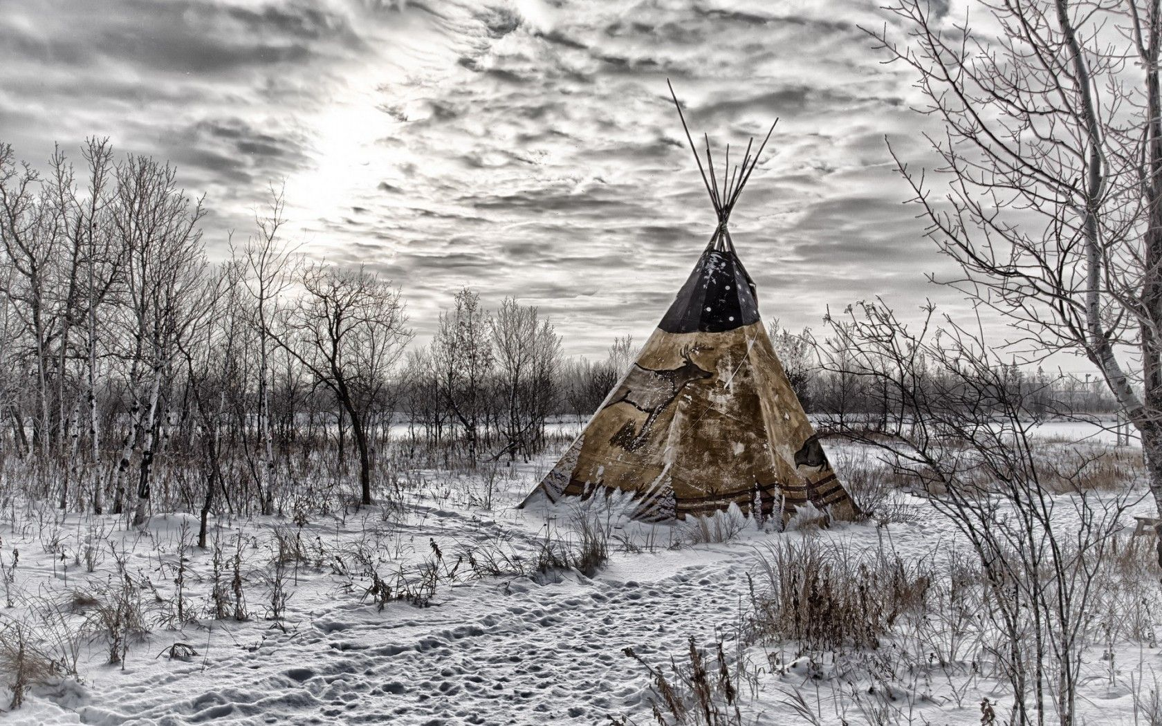 1680x1050 Native Tag wallpapers: Plains Indian Teepee Sunrise Native American ...