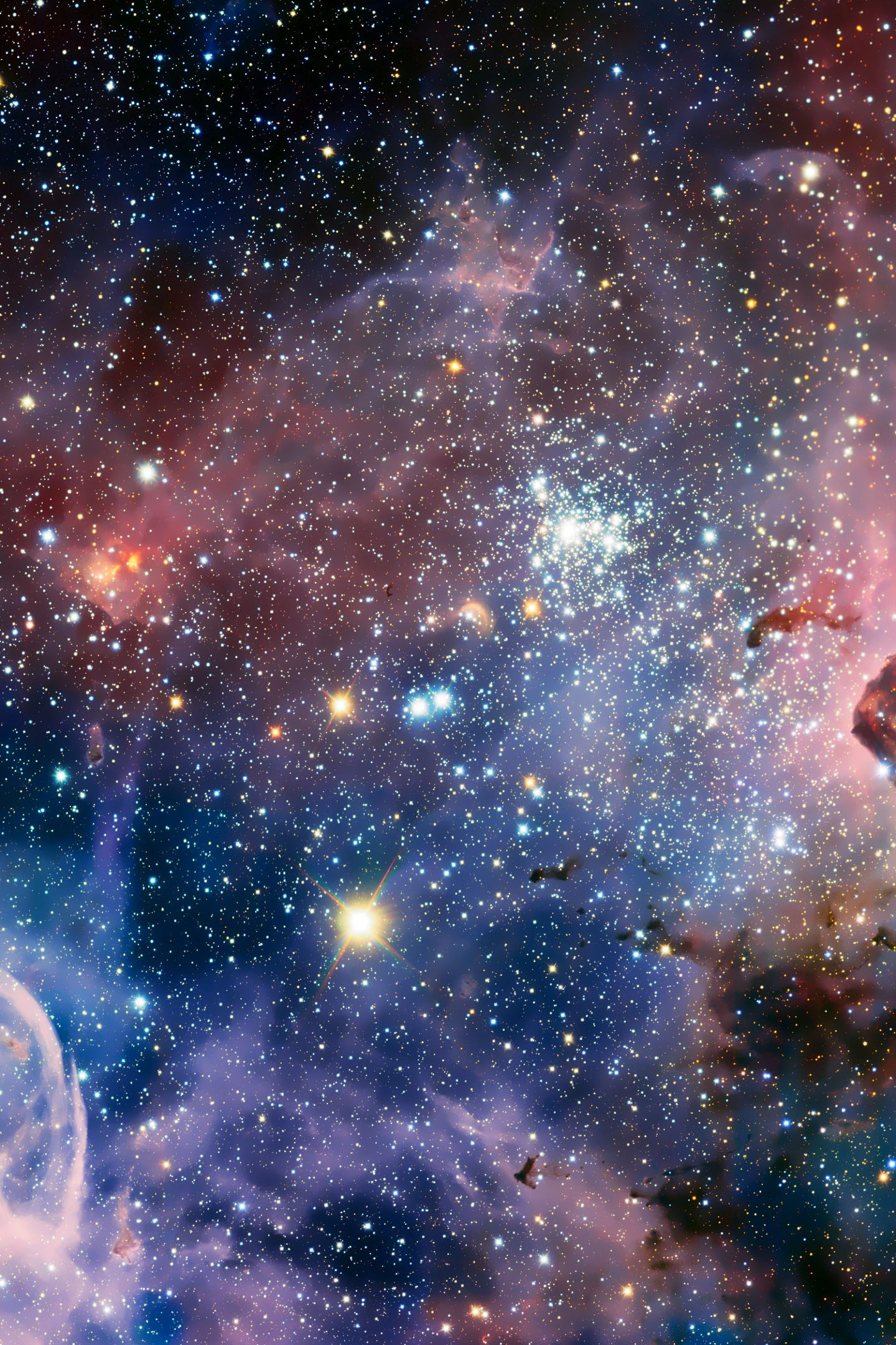 1440x2160 Carina Nebula Stars Space Colorful Blue Red 4K Wallpaper ...