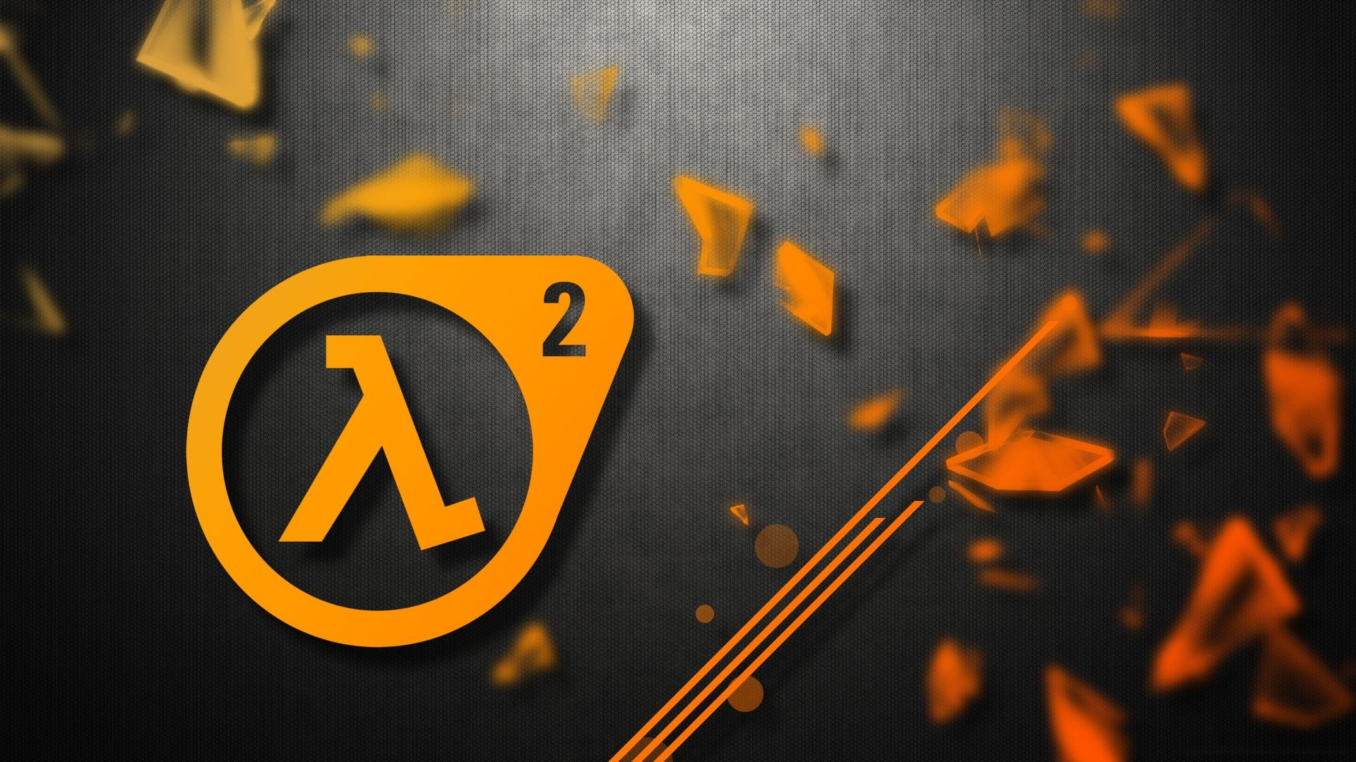 1920x1080 video games, yellow, glass, orange, gray, vector, Half-Life ...
