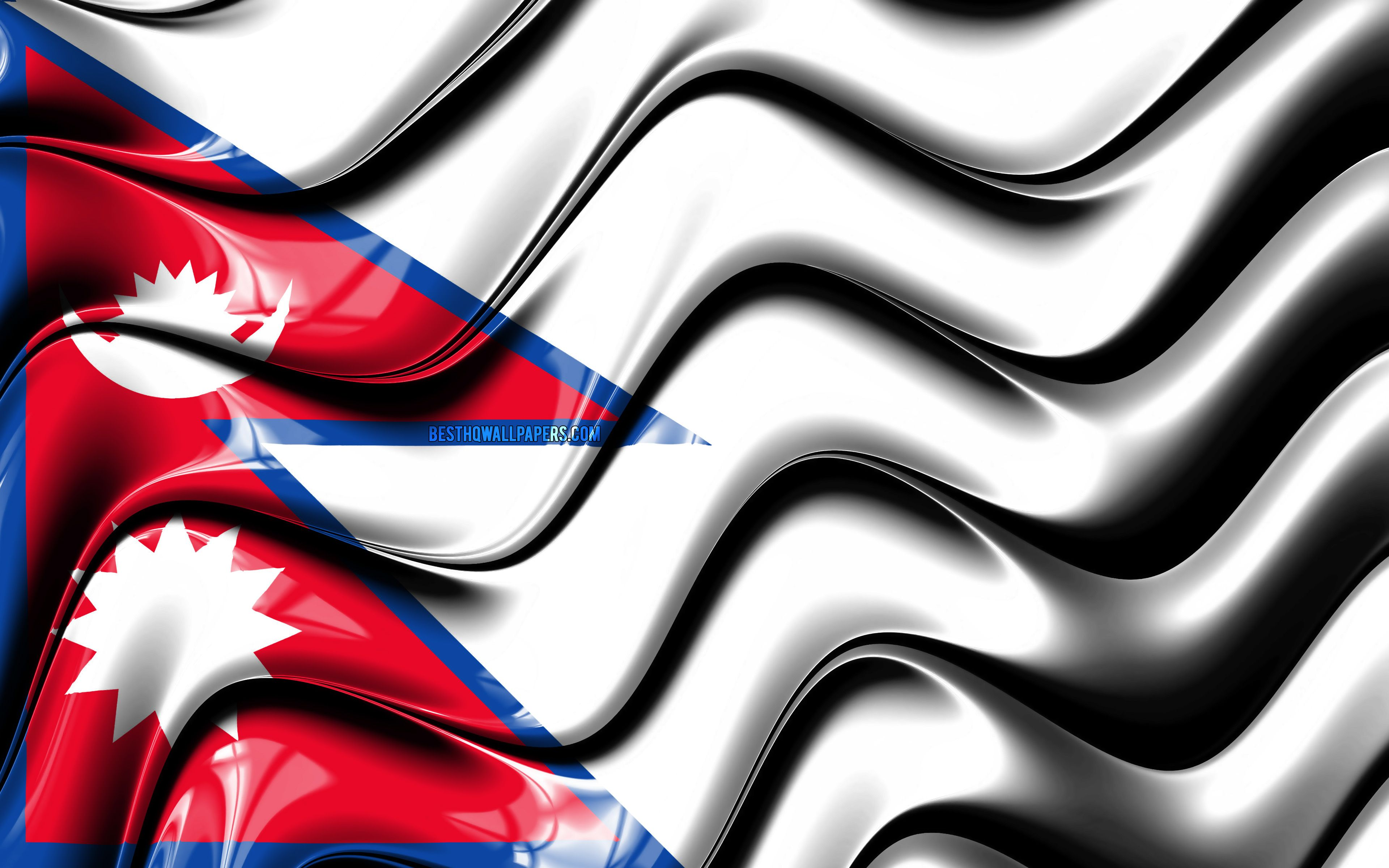 3840x2400 Download wallpapers Nepalese flag, 4k, Asia, national ...