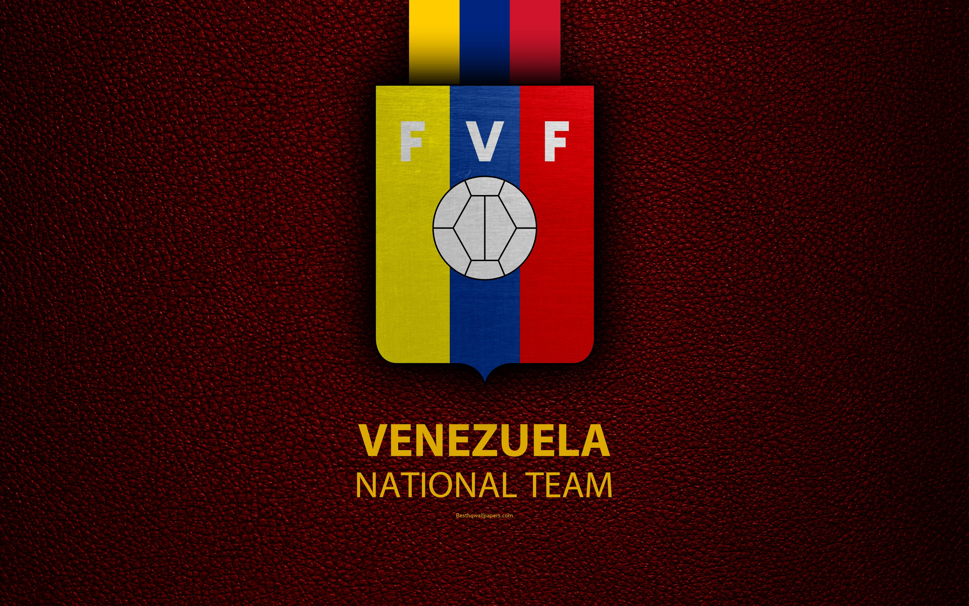 3840x2400 Venezuela National Football Team, 4k, Leather Texture ...