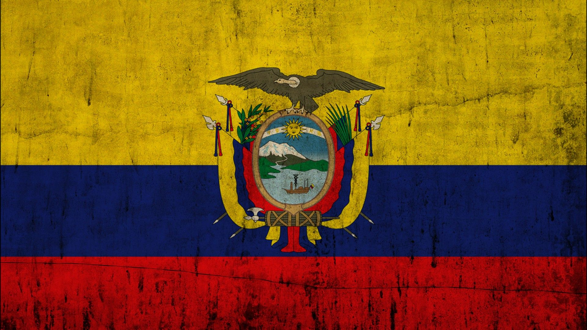 1920x1080 Great Ecuador Flag - HD Wallpapers