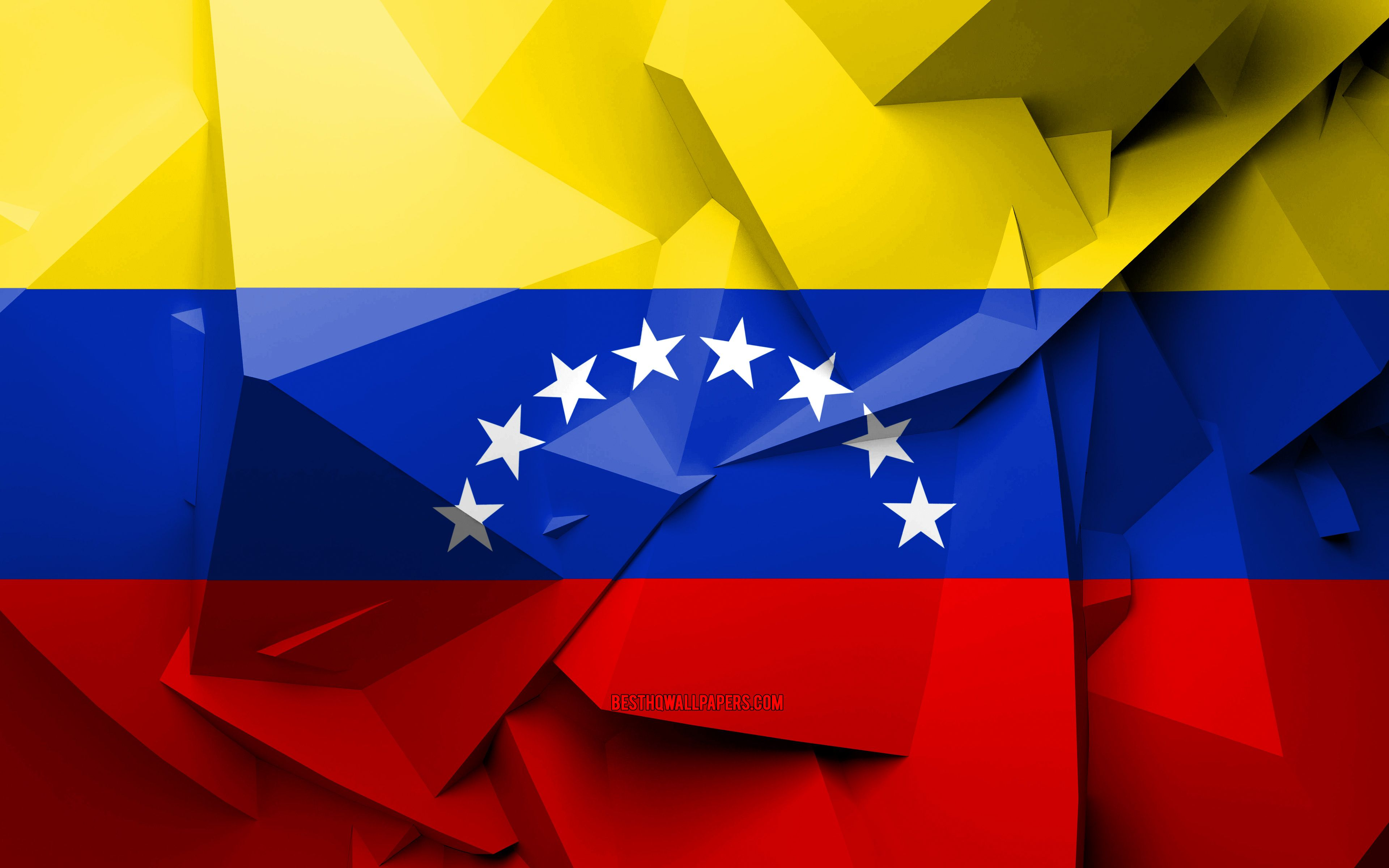 3840x2400 Download wallpapers 4k, Flag of Venezuela, geometric art ...