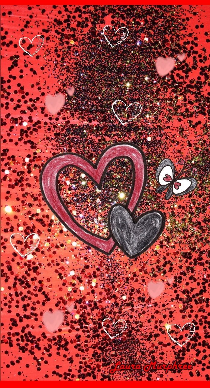 695x1280 Glitter - Heart, Hd Wallpapers & backgrounds Download ...