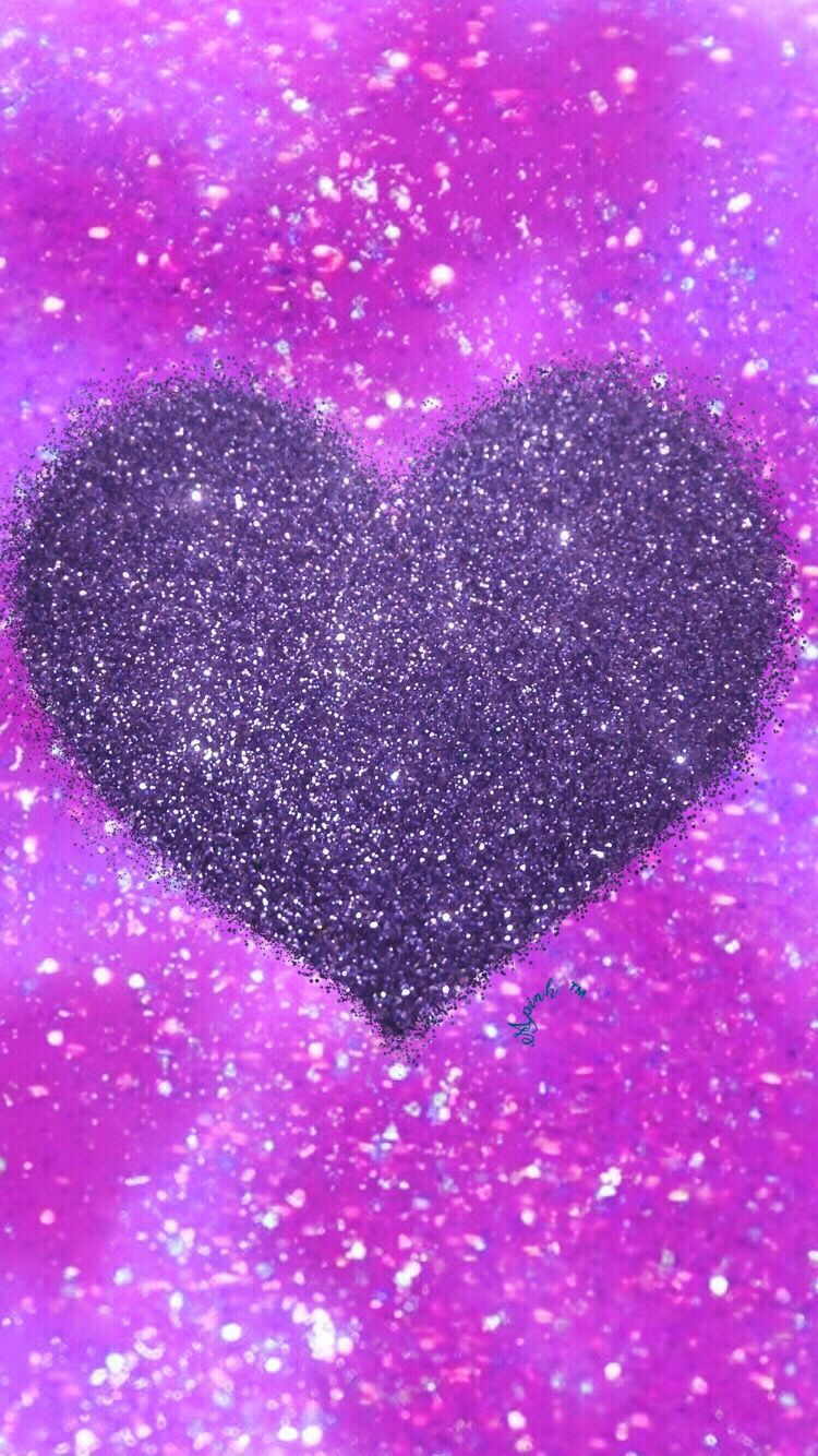 750x1334 45+ Pink and Purple Heart Wallpapers - Download at WallpaperBro