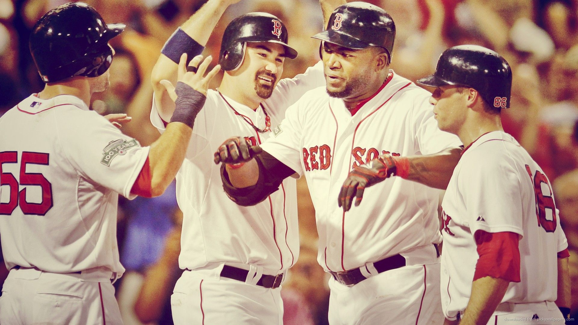 1920x1080 Red, So, David, Ortiz, Red And Blue, Game, Widescreen ...