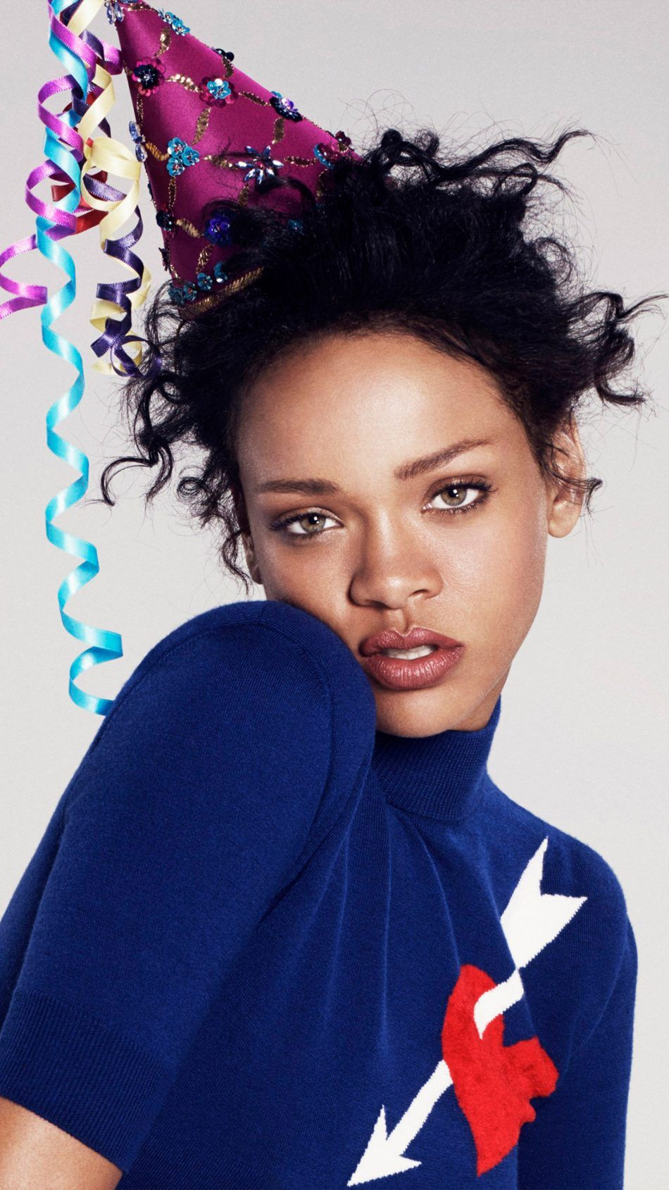 950x1689 Download Rihanna Party Hat Free Pure 4K Ultra HD Mobile ...
