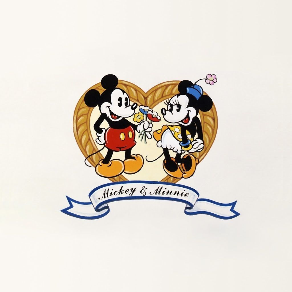 1024x1024 iphone #wallpapers #minnie #mickey #vintage | Graphic design ...