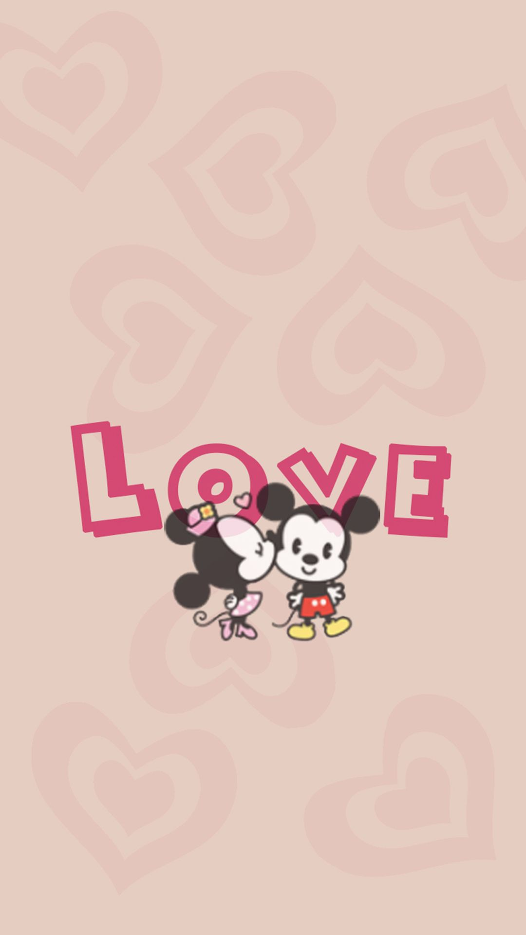 1080x1920 Vintage Minnie And Mickey Mouse Wallpaper.
