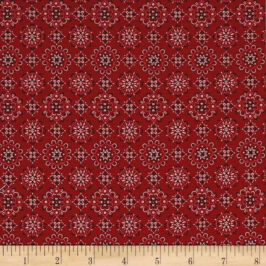 922x922 Kaufman Sevenberry: Bandana Red