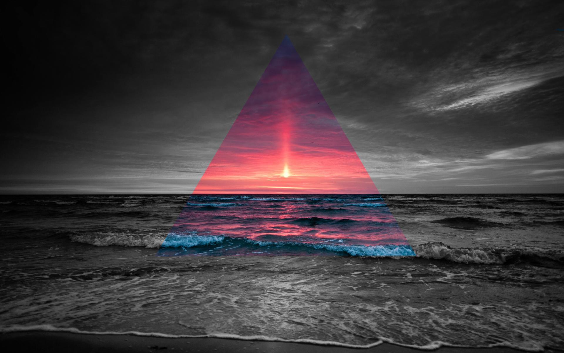 1920x1200 Beach Prism, HD Creative, 4k Wallpapers, Images, Backgrounds ...