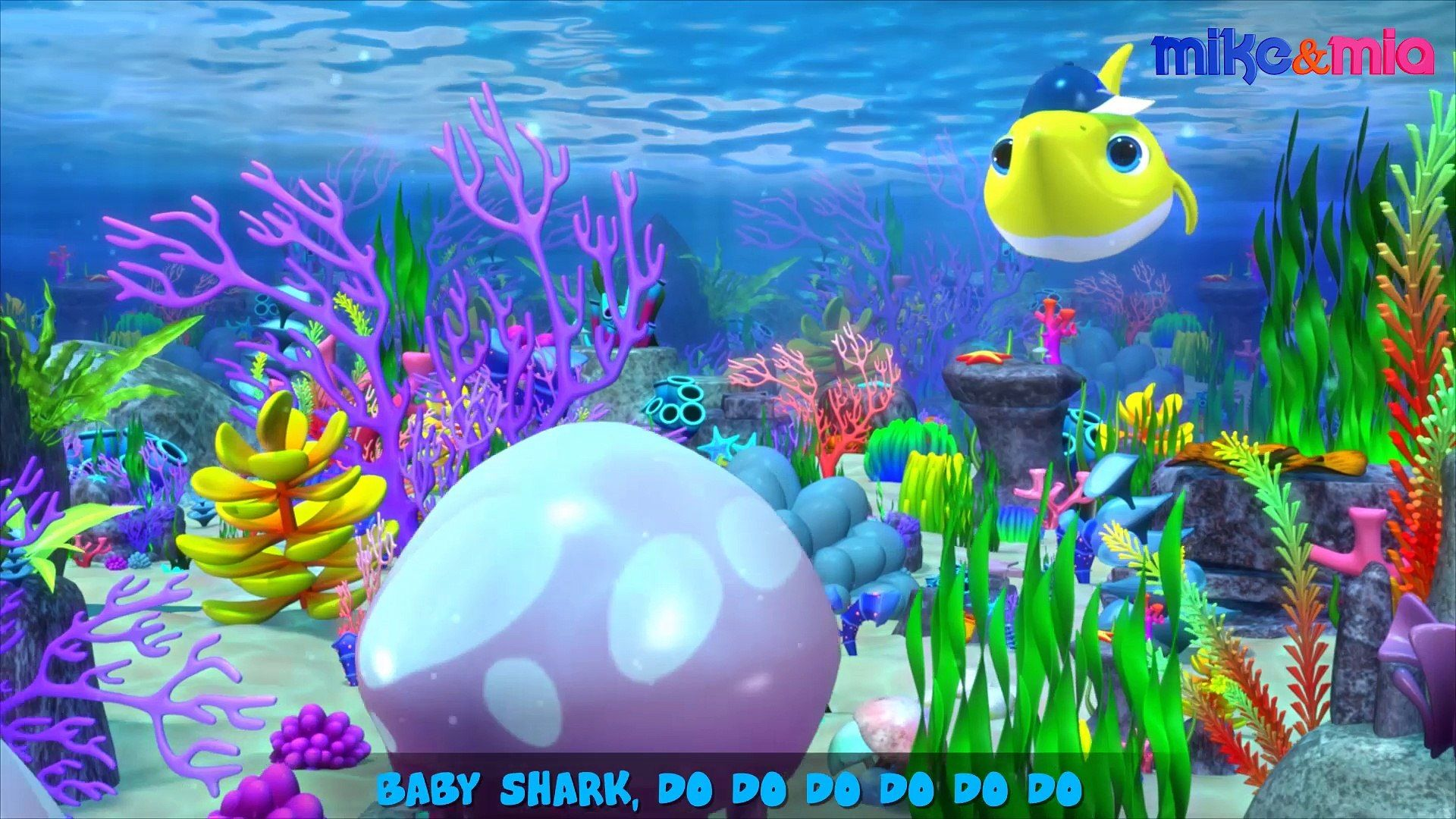 1920x1080 Baby Shark | Nursery Rhymes and Kids Songs | Mike and Mia