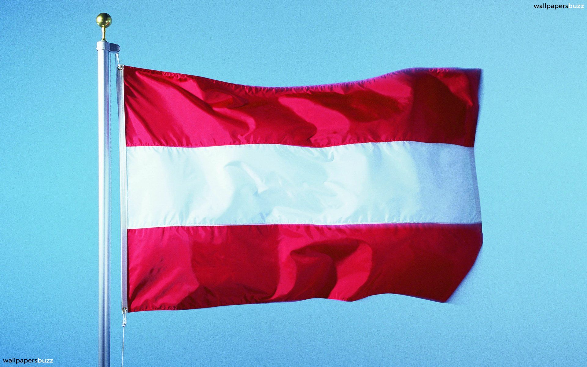 1920x1200 The traditional flag of Austria HD Wallpaper