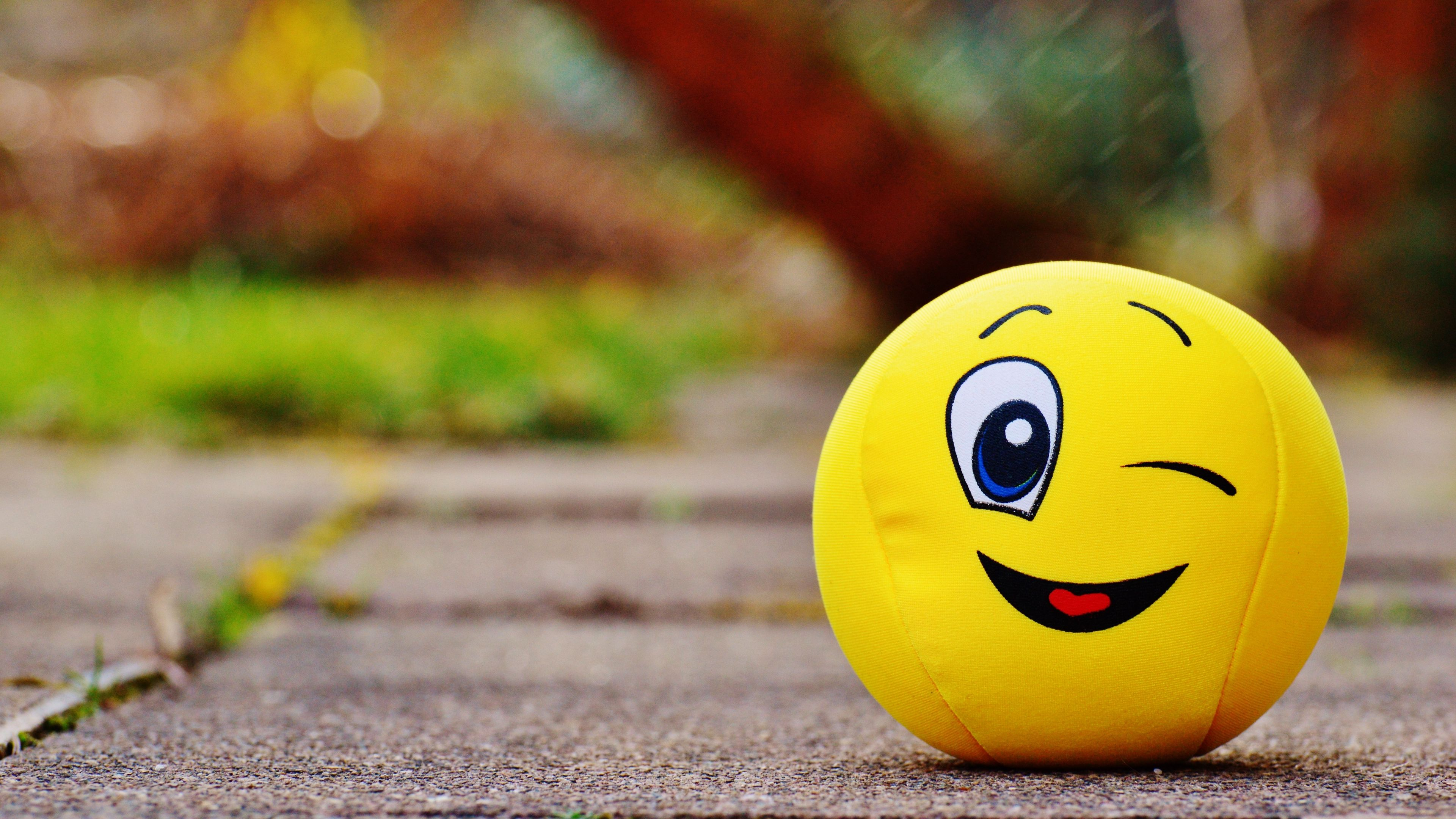 3840x2160 Download wallpaper 3840x2160 ball, smile, happy, toy 4k uhd ...