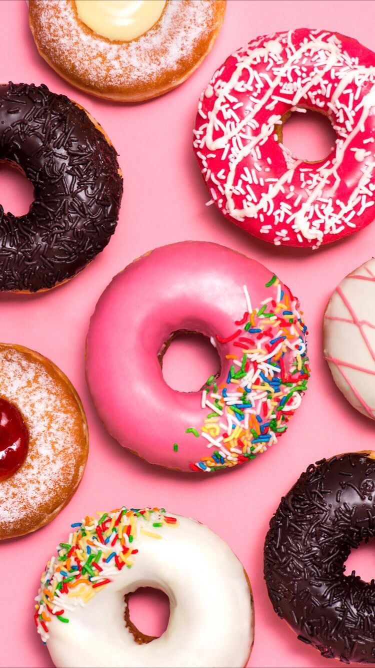 750x1334 Delicious donuts wallpaper for your iPhone X from Everpix ...