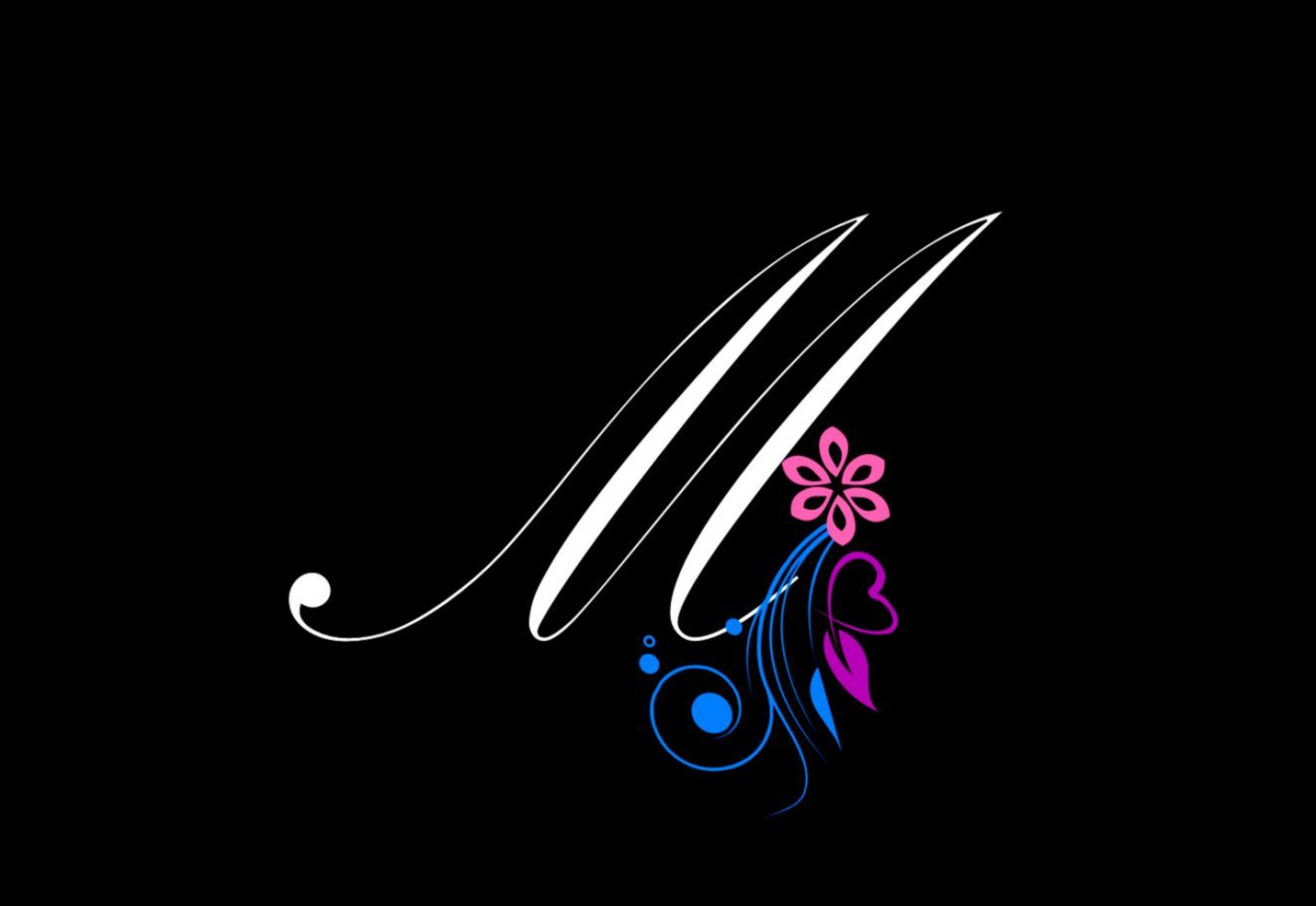 1324x912 M Letter Wallpapers   Wallpapers Glitter