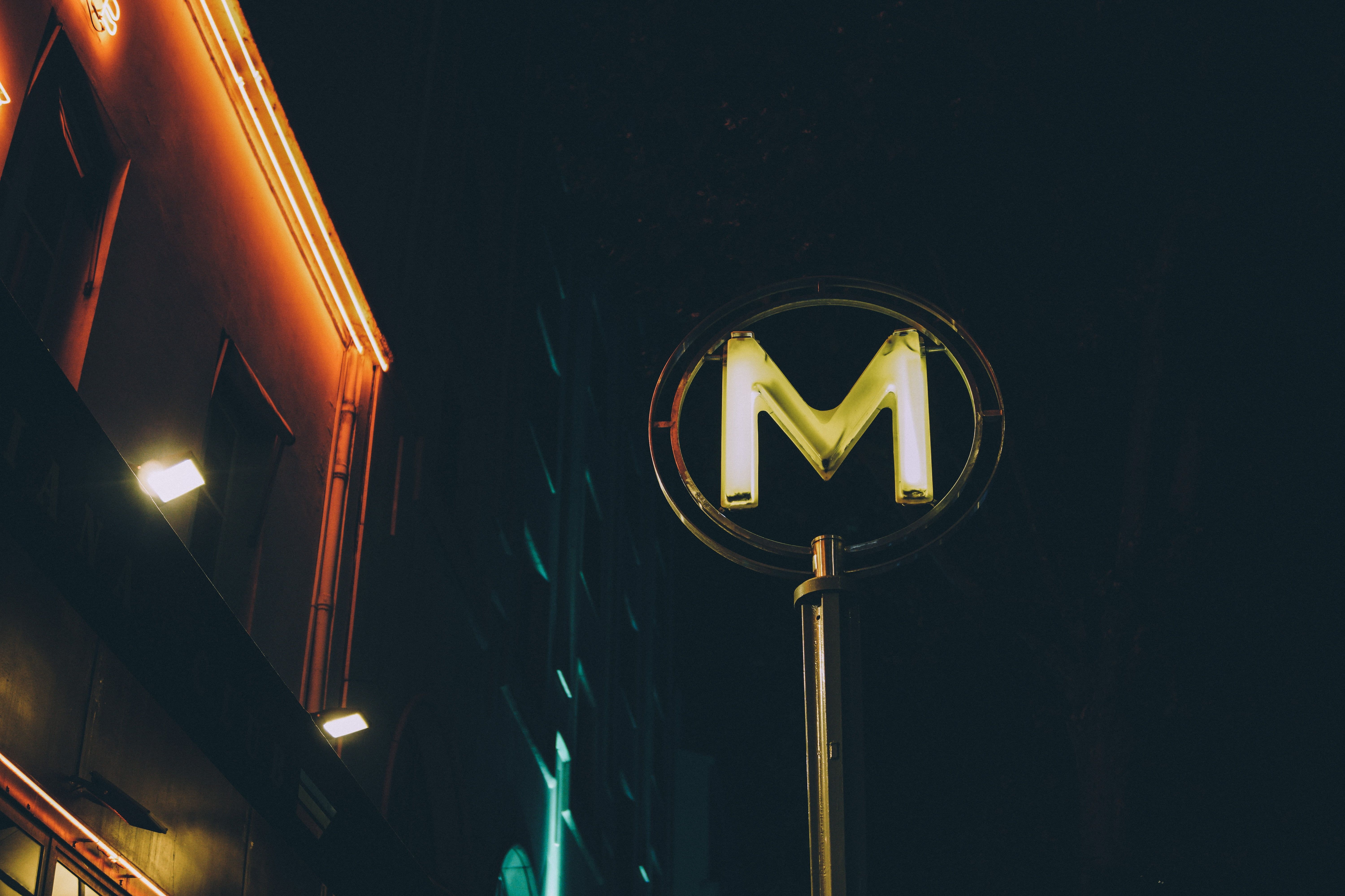 6000x4000 Yellow letter M neon signage HD wallpaper   Wallpaper Flare