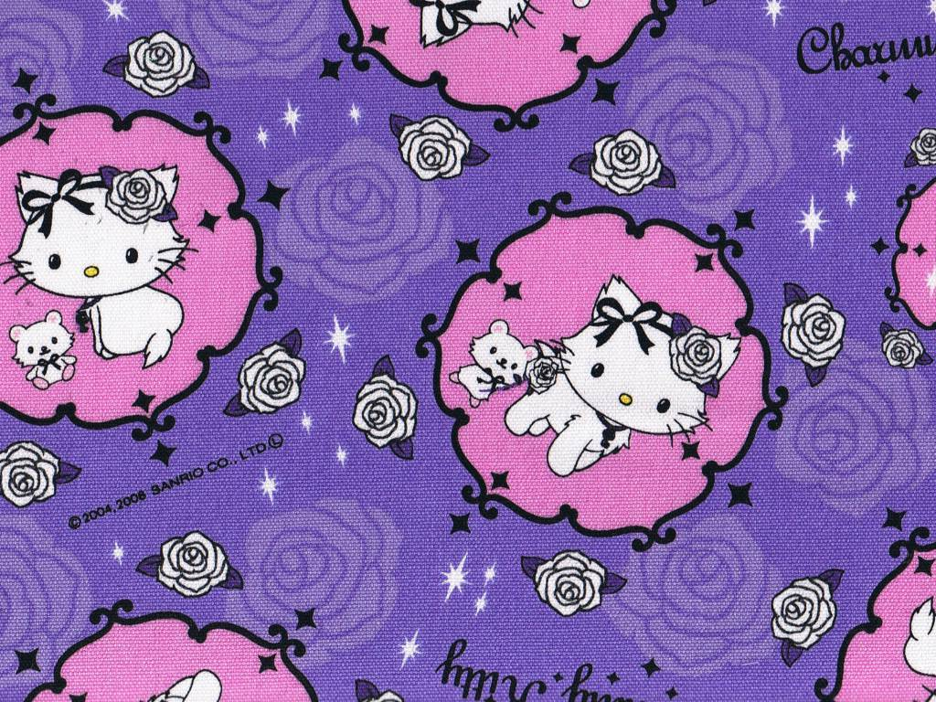 1024x768 Free Purple Hello Kitty Wallpapers High Resolution « Long Wallpapers