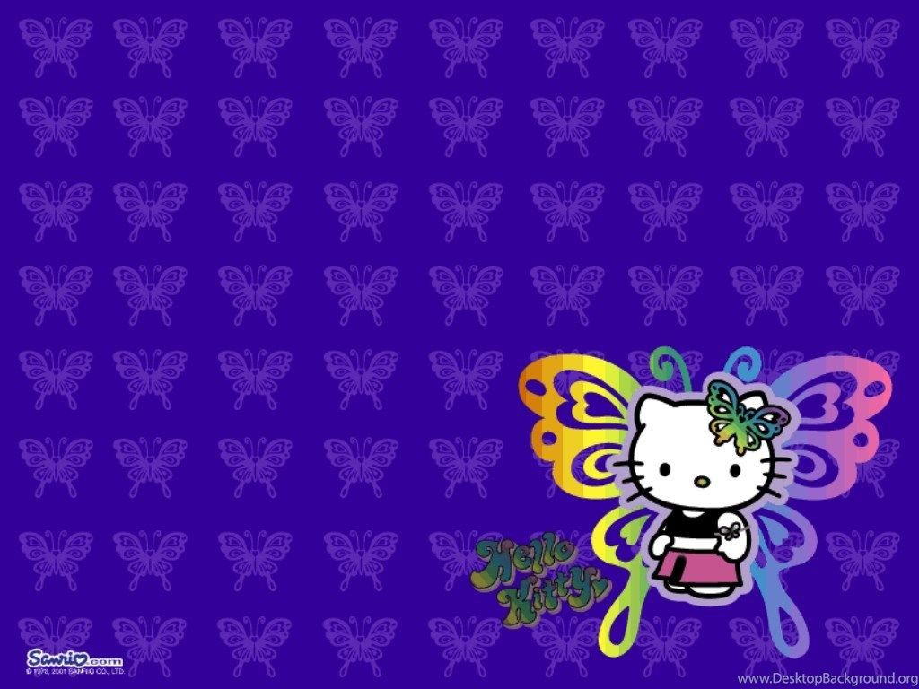 1024x768 Purple Hello Kitty Wallpapers Wallpapers