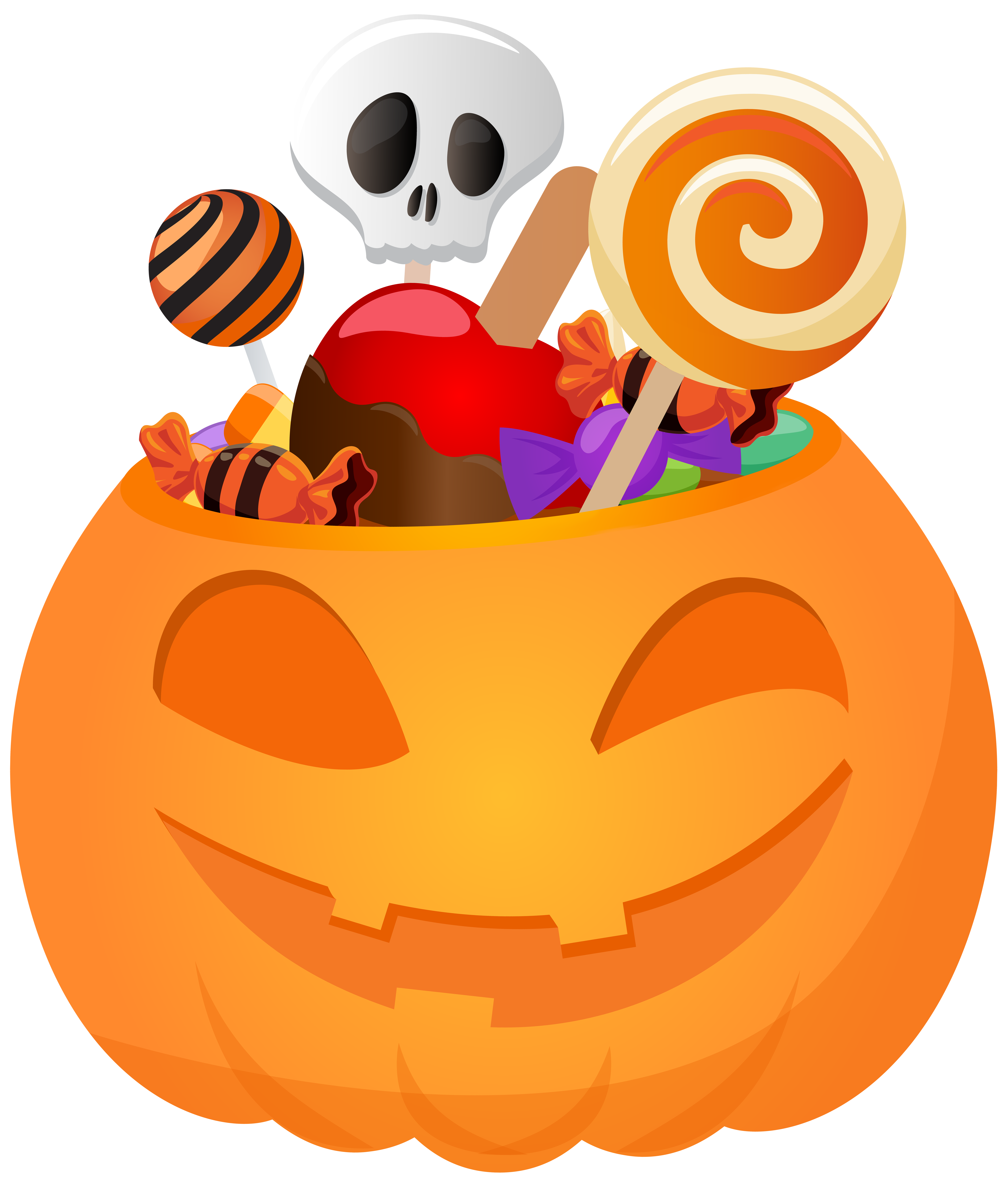 6814x8000 Halloween Pumpkin with Candy PNG Clip Art Image | Gallery ...