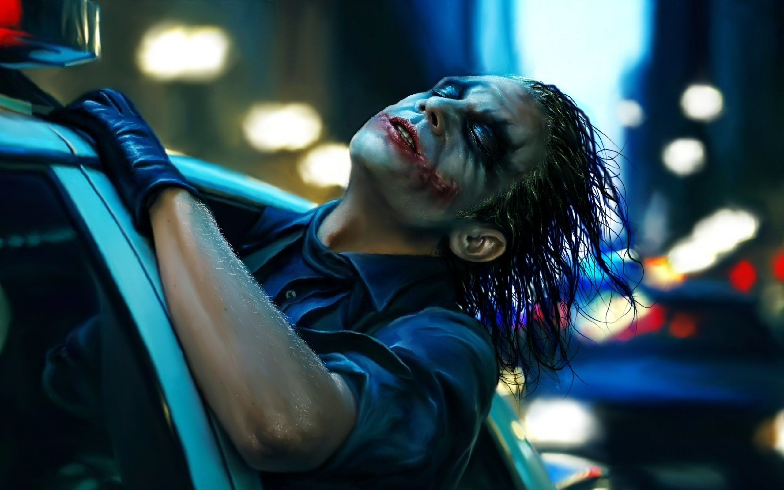 2560x1600 Movies Joker Dark Knight Police Car #2275 Wallpapers and ...