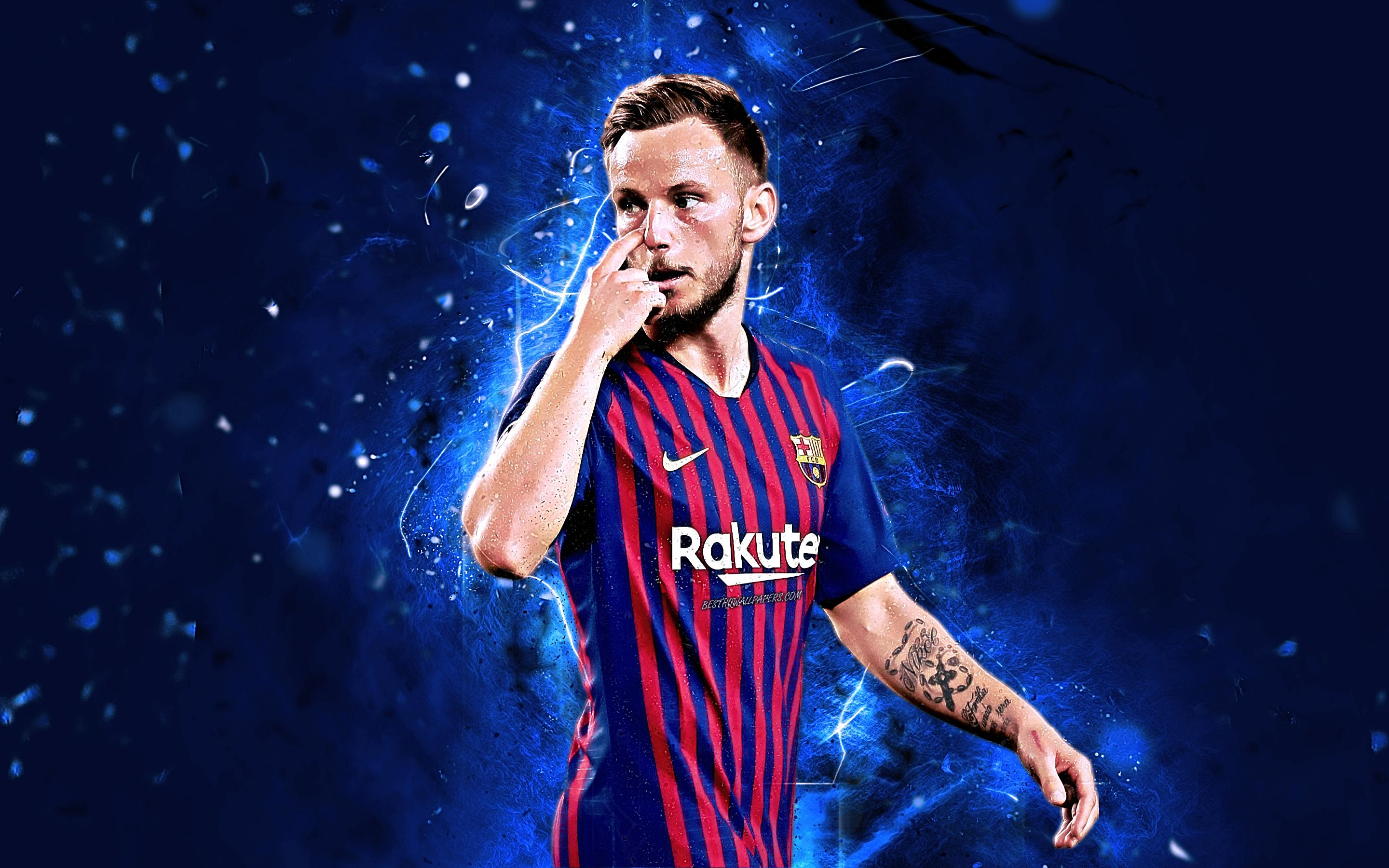 2880x1800 Download wallpapers Ivan Rakitic, Croatian footballers, FCB ...