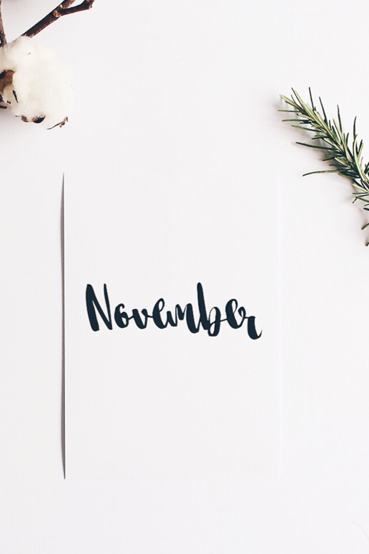 735x1102 Hello November! | S E A S O N S in 2019 | November wallpaper ...