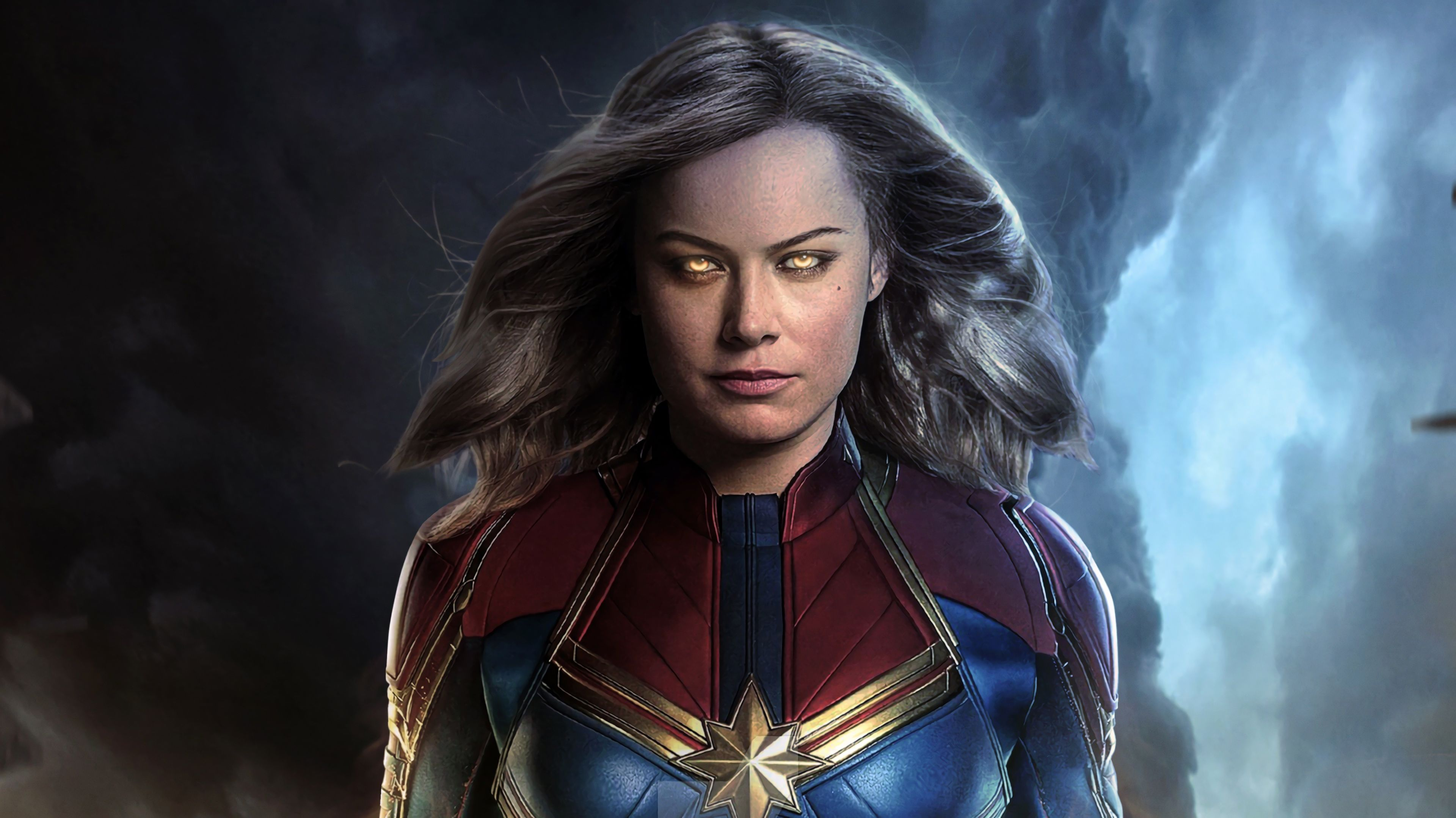 3840x2160 Captain Marvel Movie 2019 Brie Larson as Carol Danvers 4K ...
