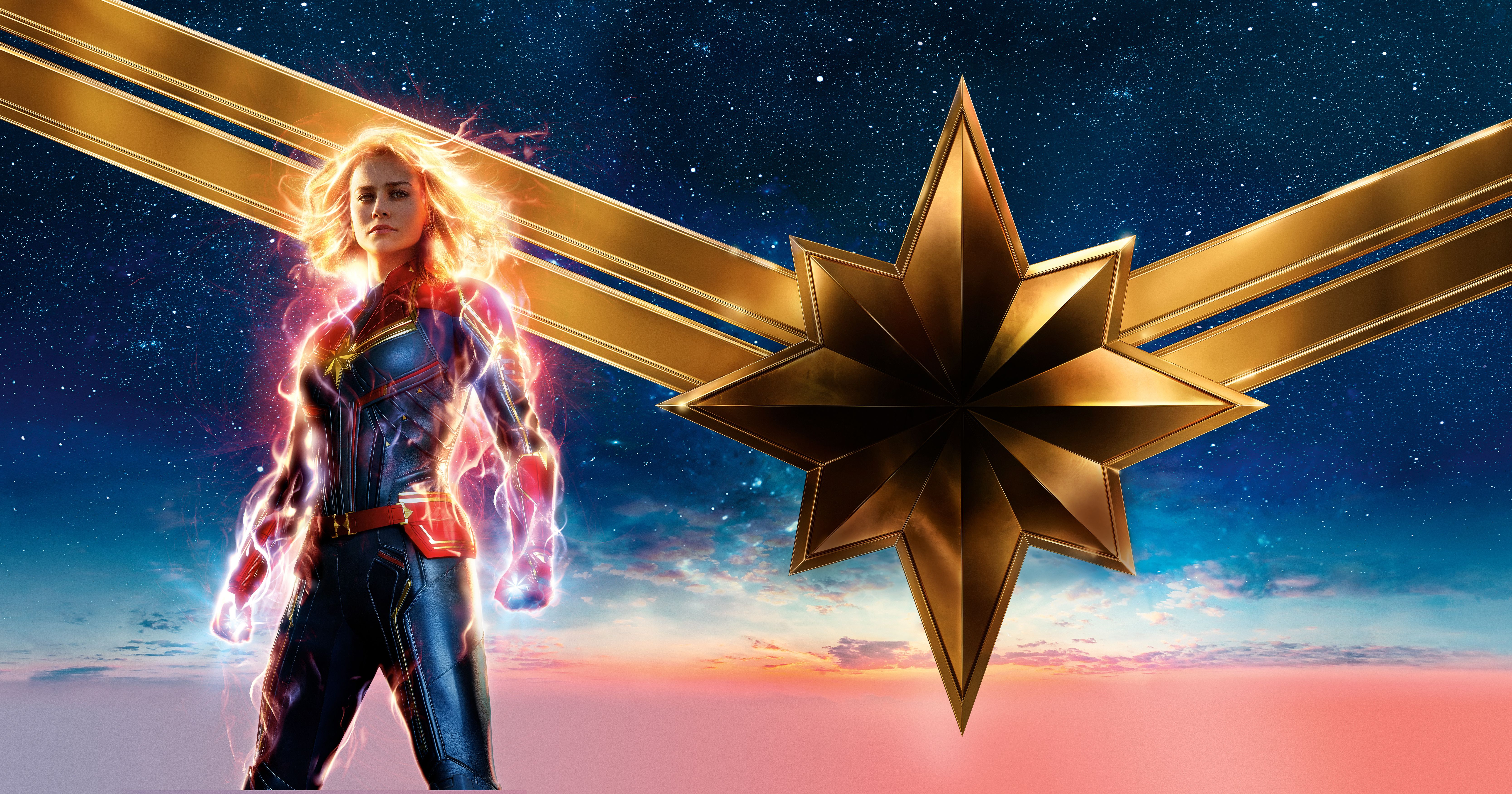6668x3500 Wallpaper Captain Marvel, Marvel Comics, 2019, 4K, 5K ...
