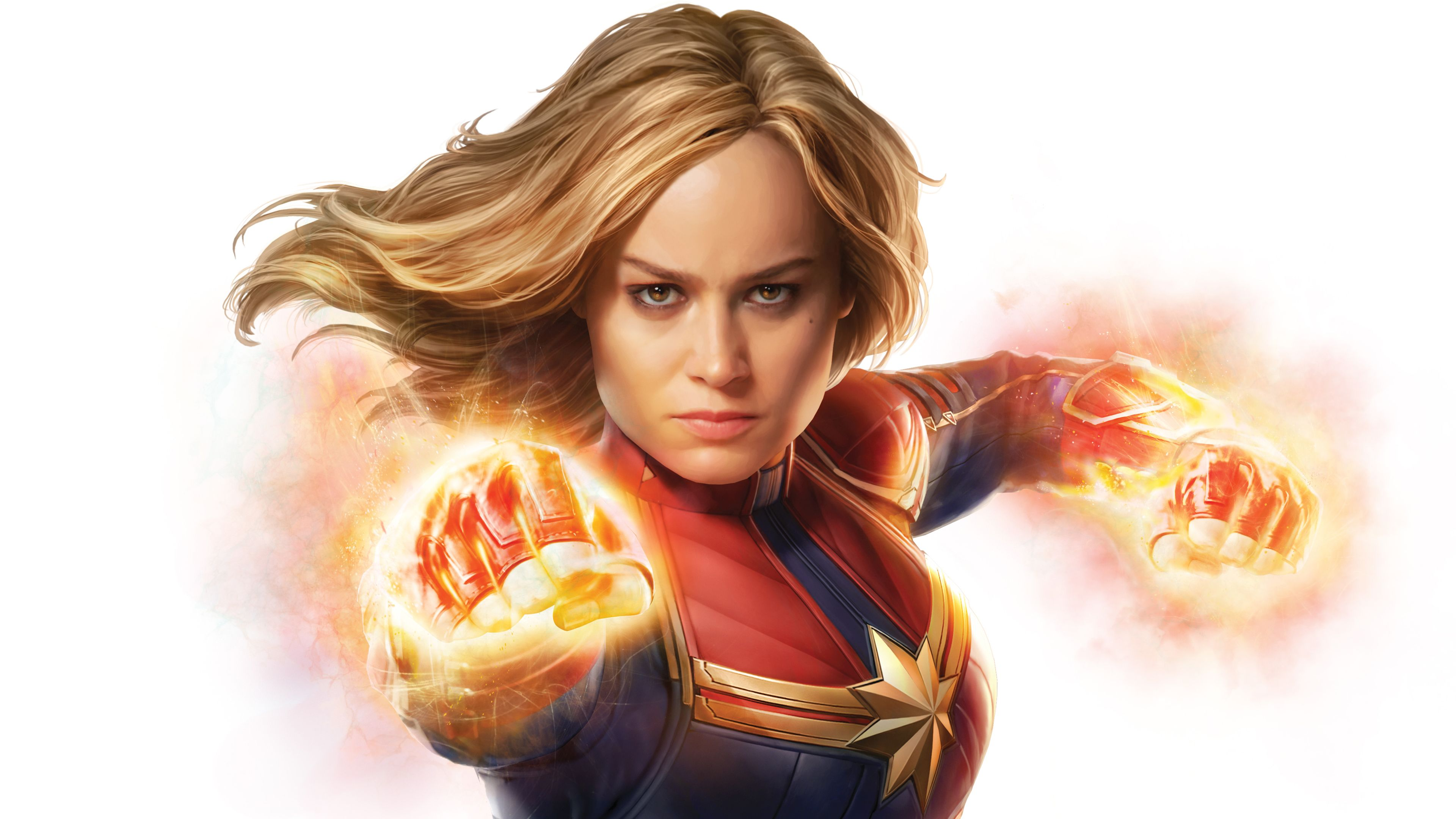 3840x2160 Brie Larson as Captain Marvel 4K Wallpapers | HD Wallpapers ...