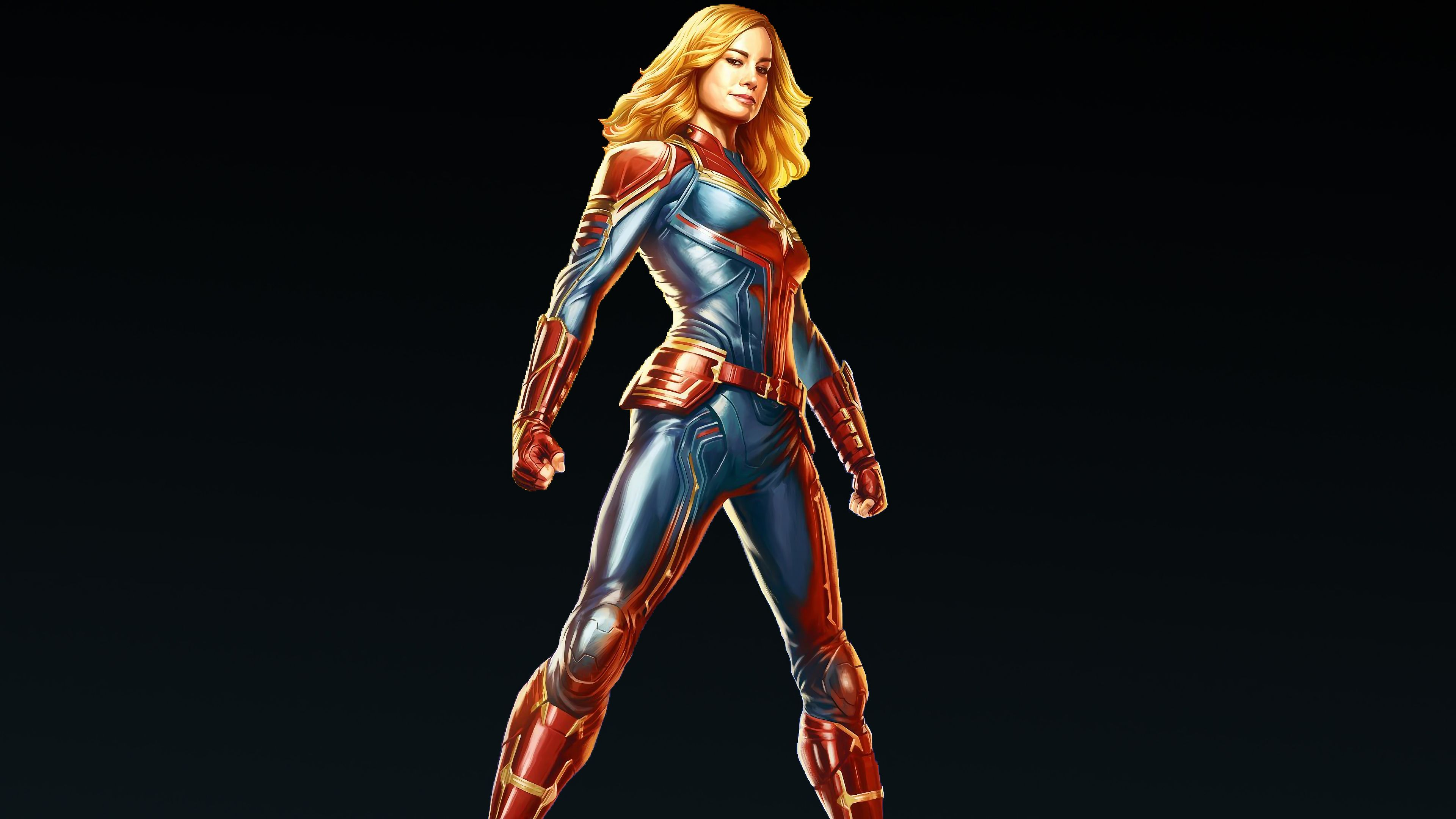 3840x2160 Captain Marvel Movie 2019 Carol Danvers 4K Wallpaper Marvel ...