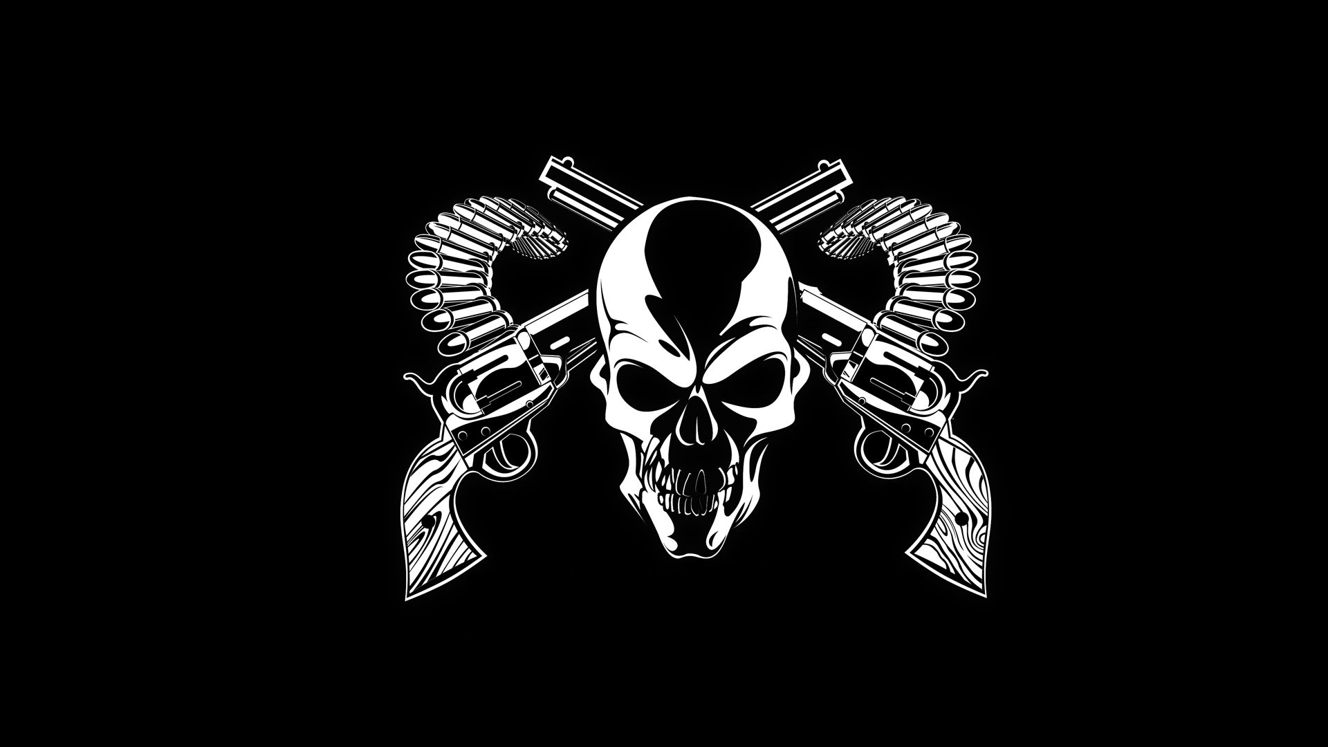 1920x1080 Dark horror skull weapons guns bullet ammo ammunition wallpaper ...
