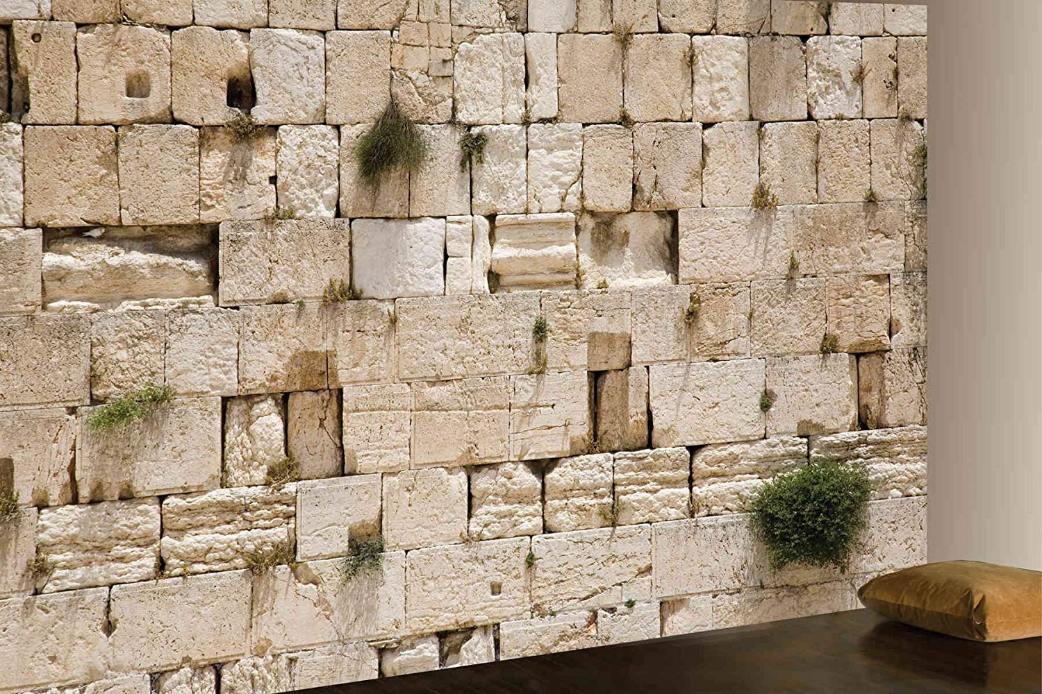 1500x1000 12-Feet wide by 8-Feet high. Prepasted wallpaper high quality mural from a  photo of the: Wailing Wall, Jerusalem. Easy to hang remove and reuse (hang  ...