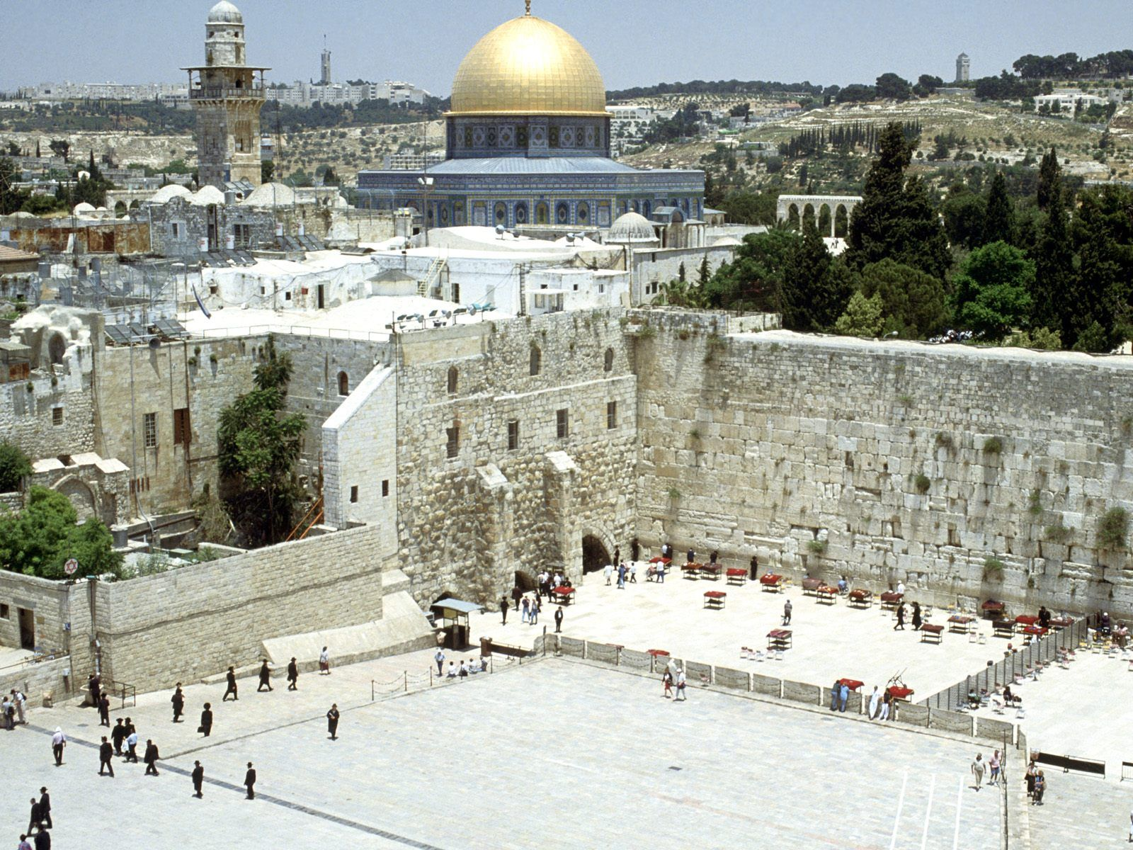 1600x1200 WESTERN WALL AND OMAR MOSQUE JERUSALEM ISRAEL WALLPAPER ...