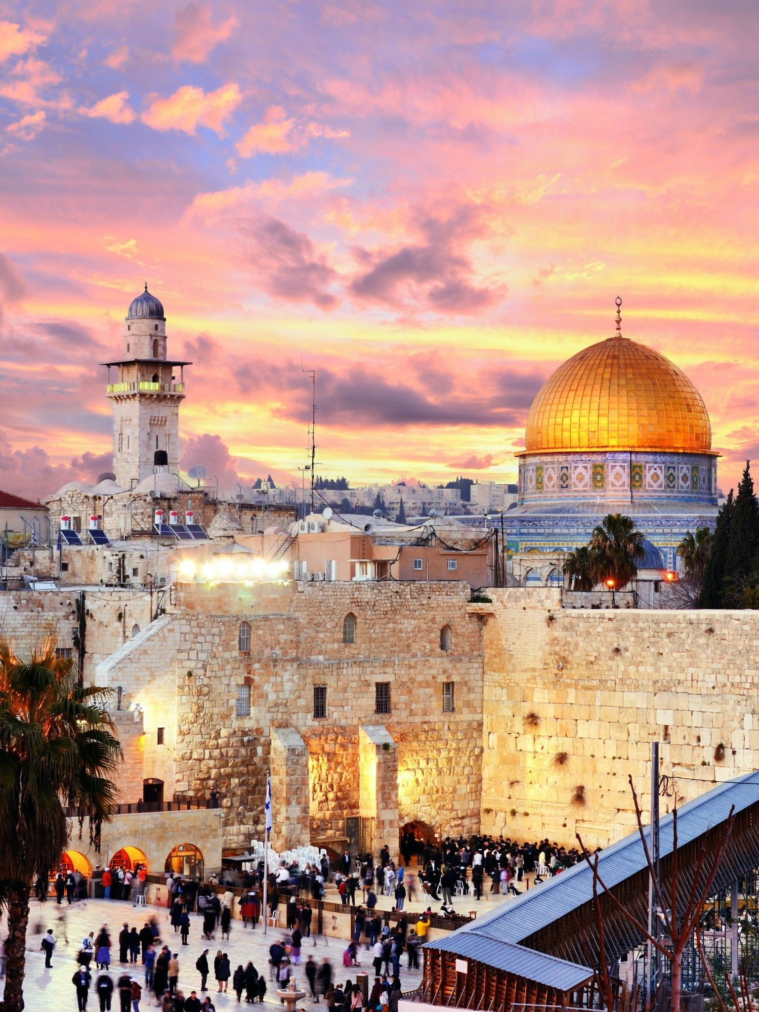 1536x2048 Download 1536x2048 Jerusalem, Sky, Wall, Clouds, Sunset ...