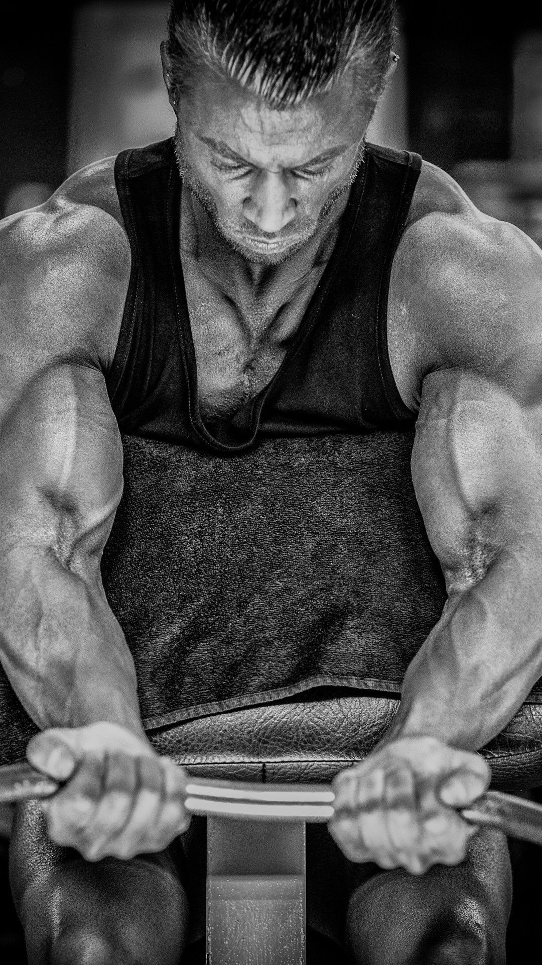 1080x1920 Download 1080x1920 Weight, Bodybuilding, Monochrome, Muscles ...