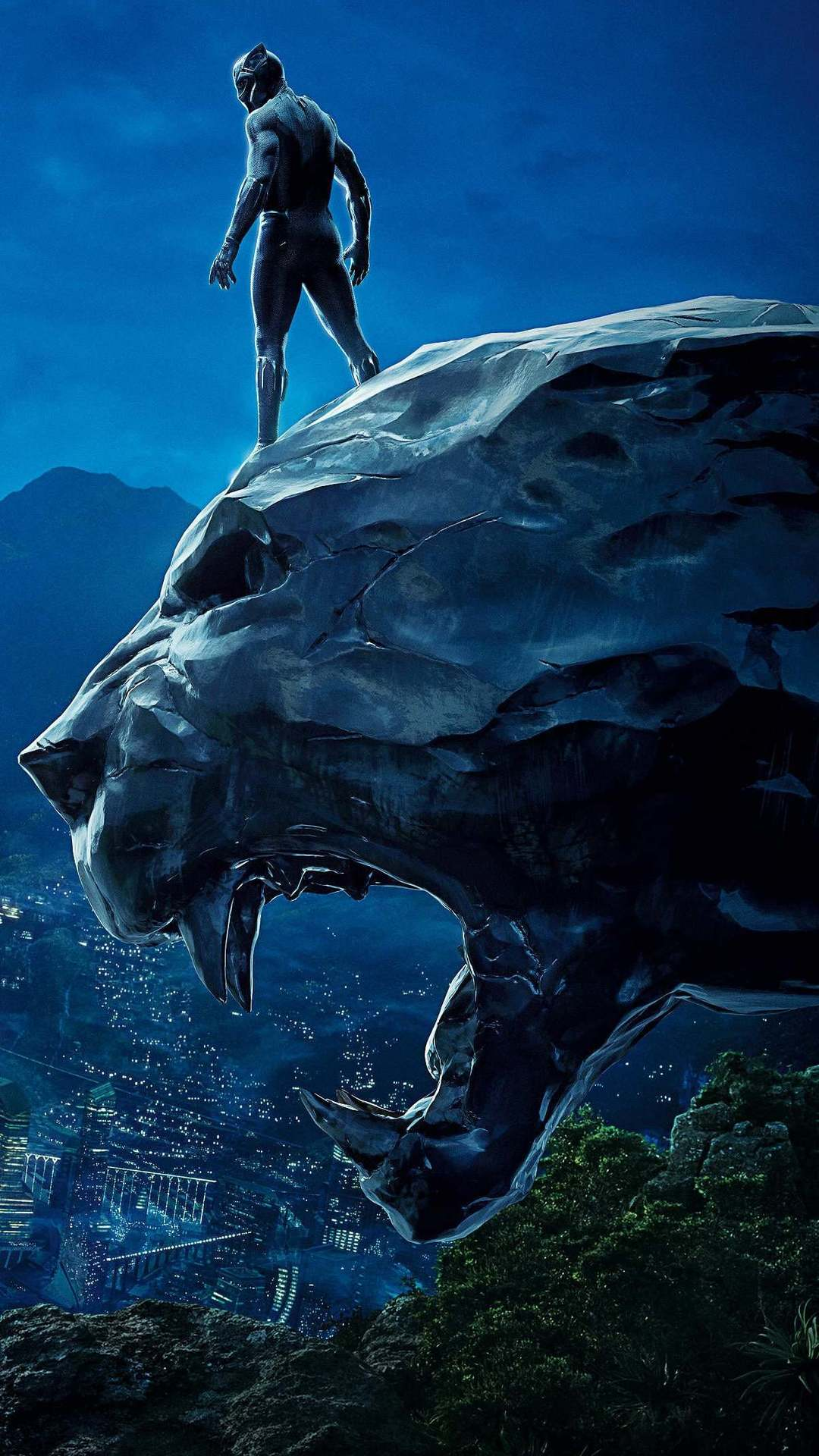 1080x1920 Black Panther Movie HD Wallpaper for iPhone X, 8/8 Plus, 7/7 ...