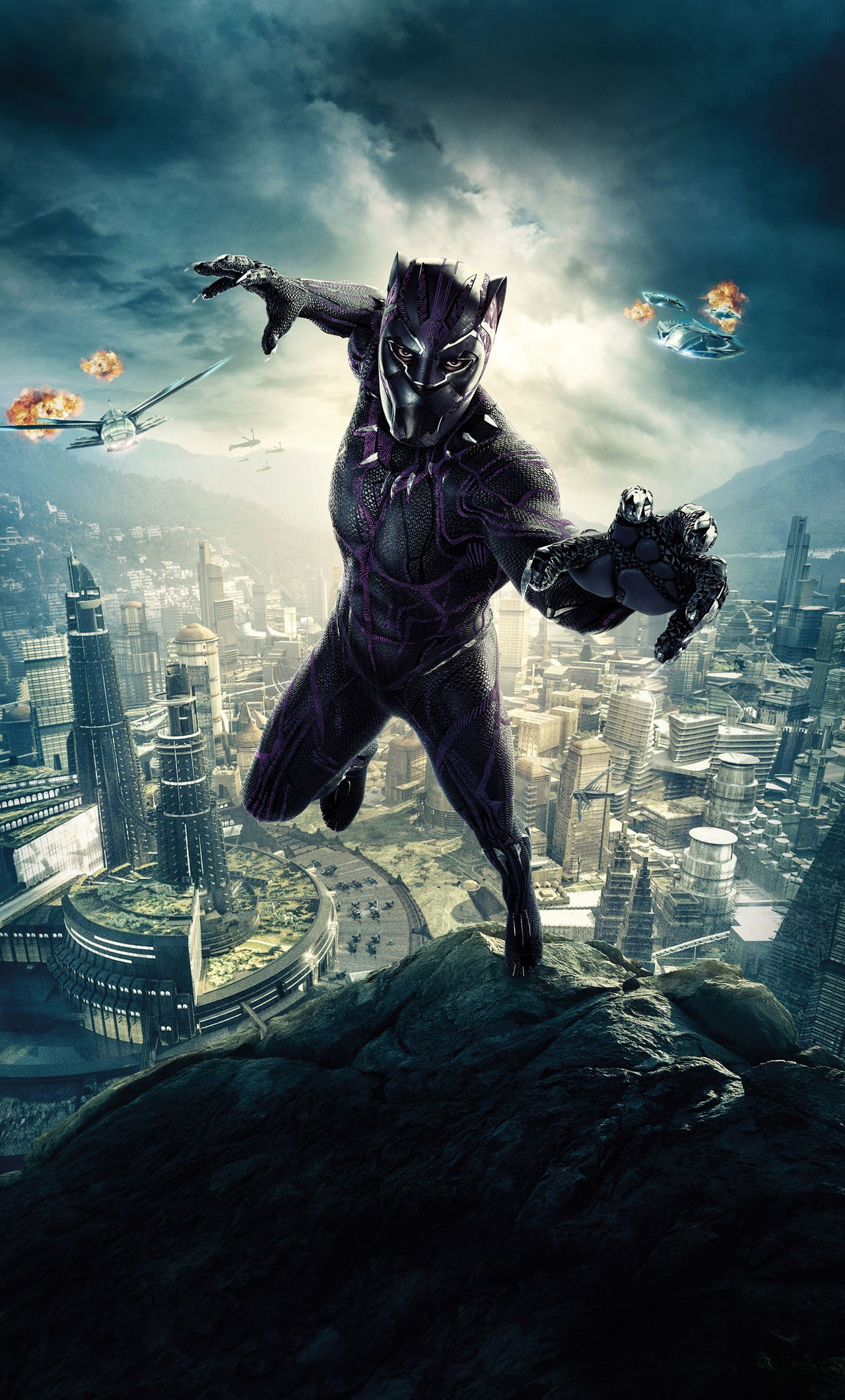 1280x2120 Black Panther HD Wallpapers For iPhone and Android Mobile ...
