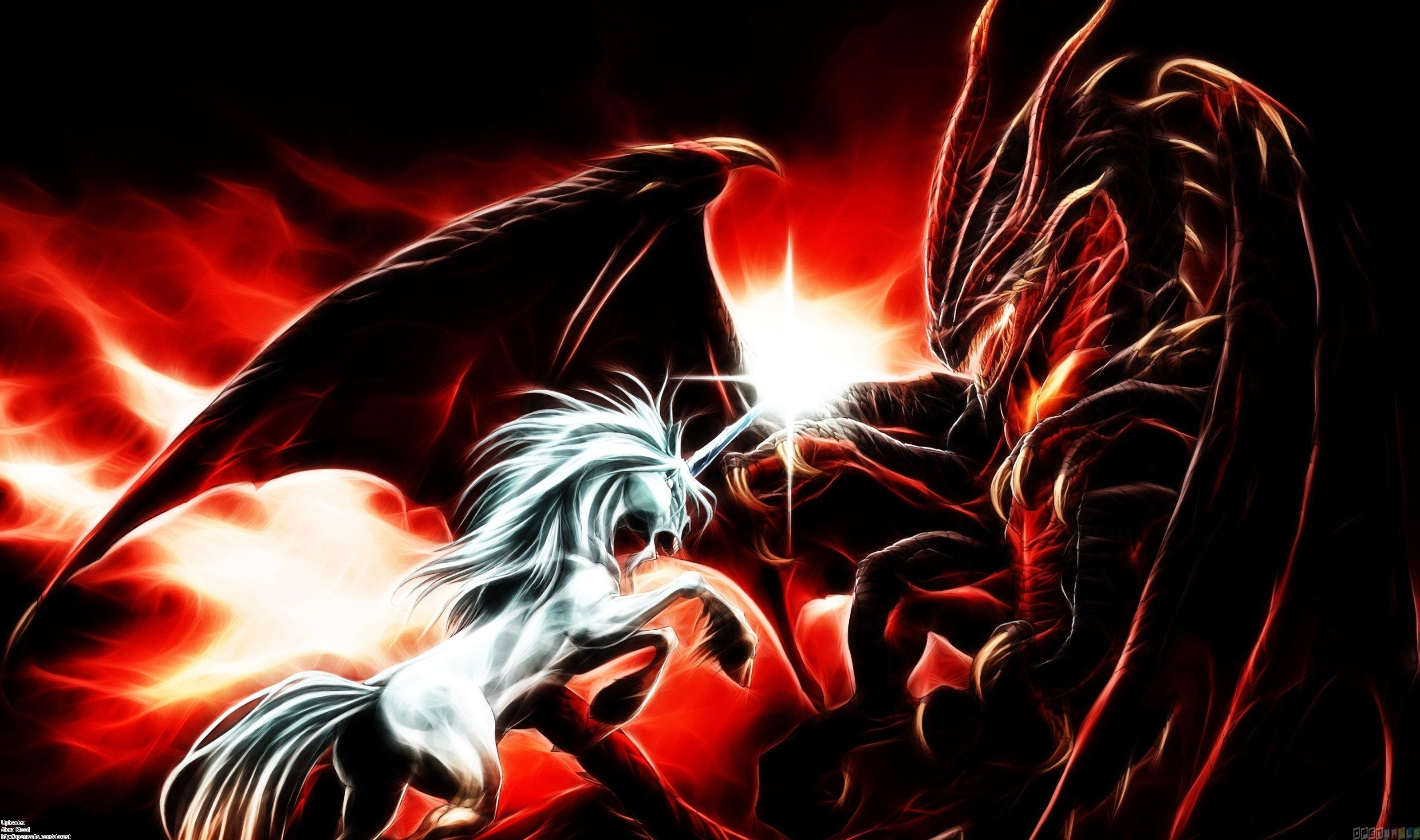 3200x1894 Dragons images Unicorn vs Dragon HD wallpaper and ...