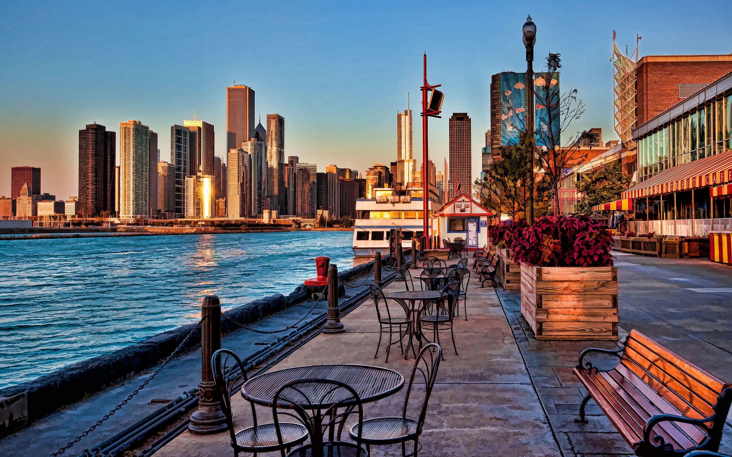 2560x1600 Navy Pier sunrise Chicago - HD Wallpapers : HD Wallpapers