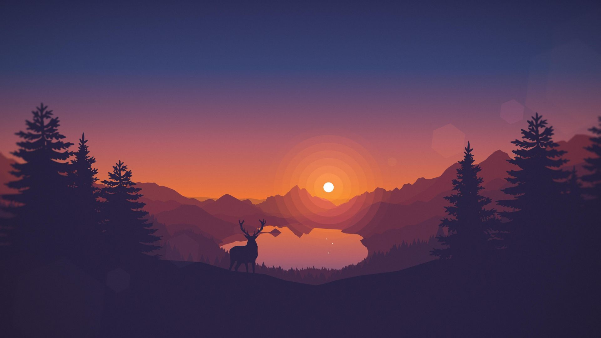 1920x1080 Wallpaper Firewatch, 4k, 8k, art, forest, Games #13610