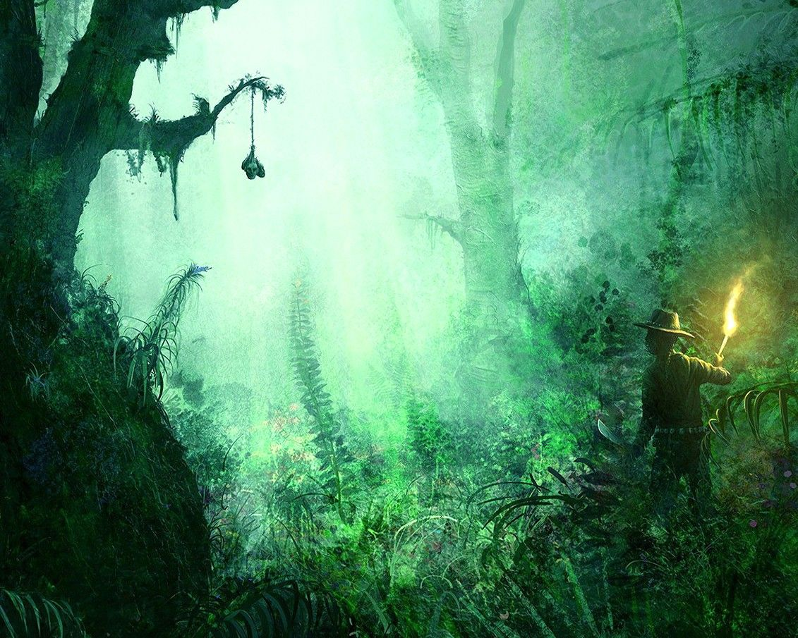 1131x905 Amazonka, Jungle, Painting Wallpapers, Colors, Art, Abstract ...
