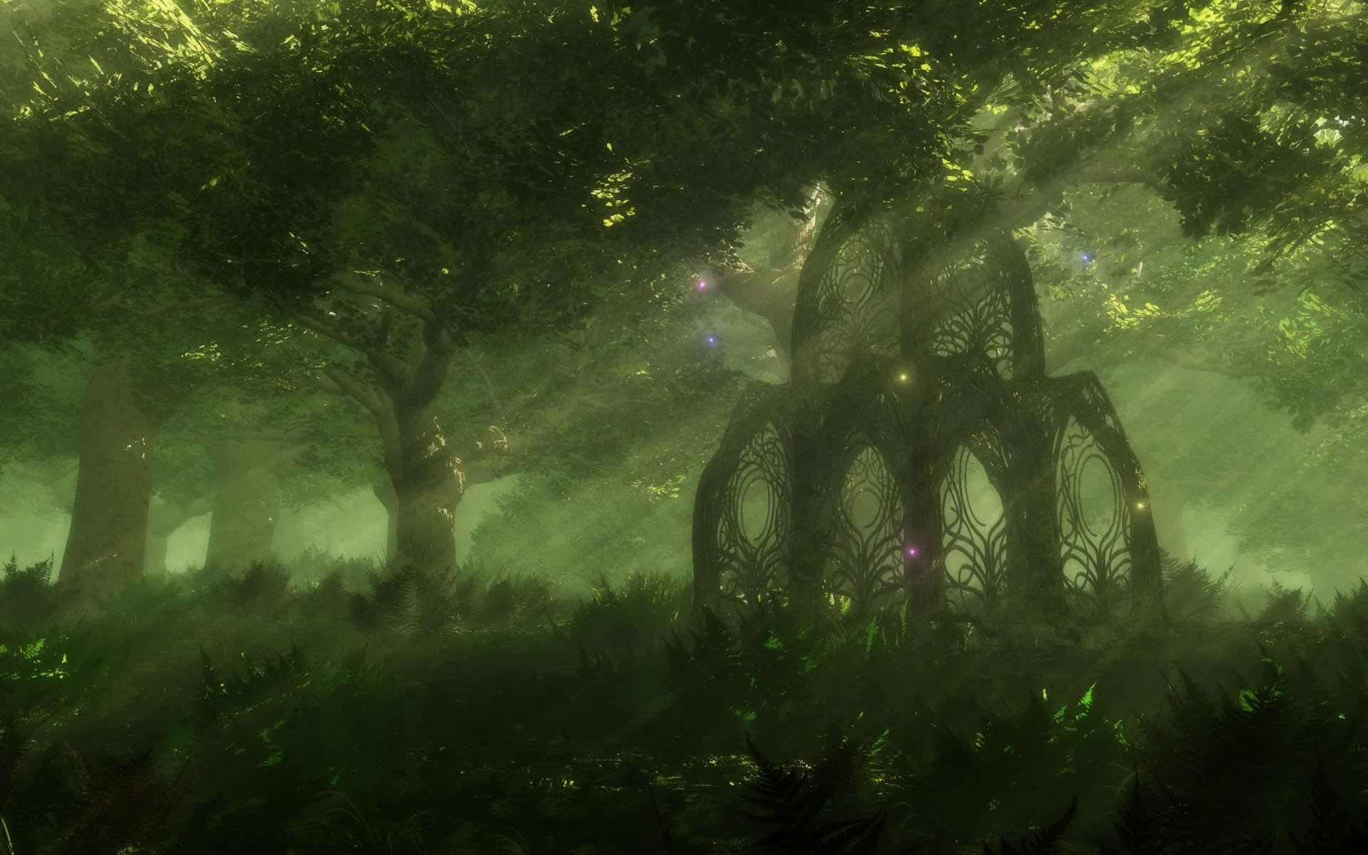 1920x1200 Fantasy Forest Wallpapers and Background Images - stmed ...