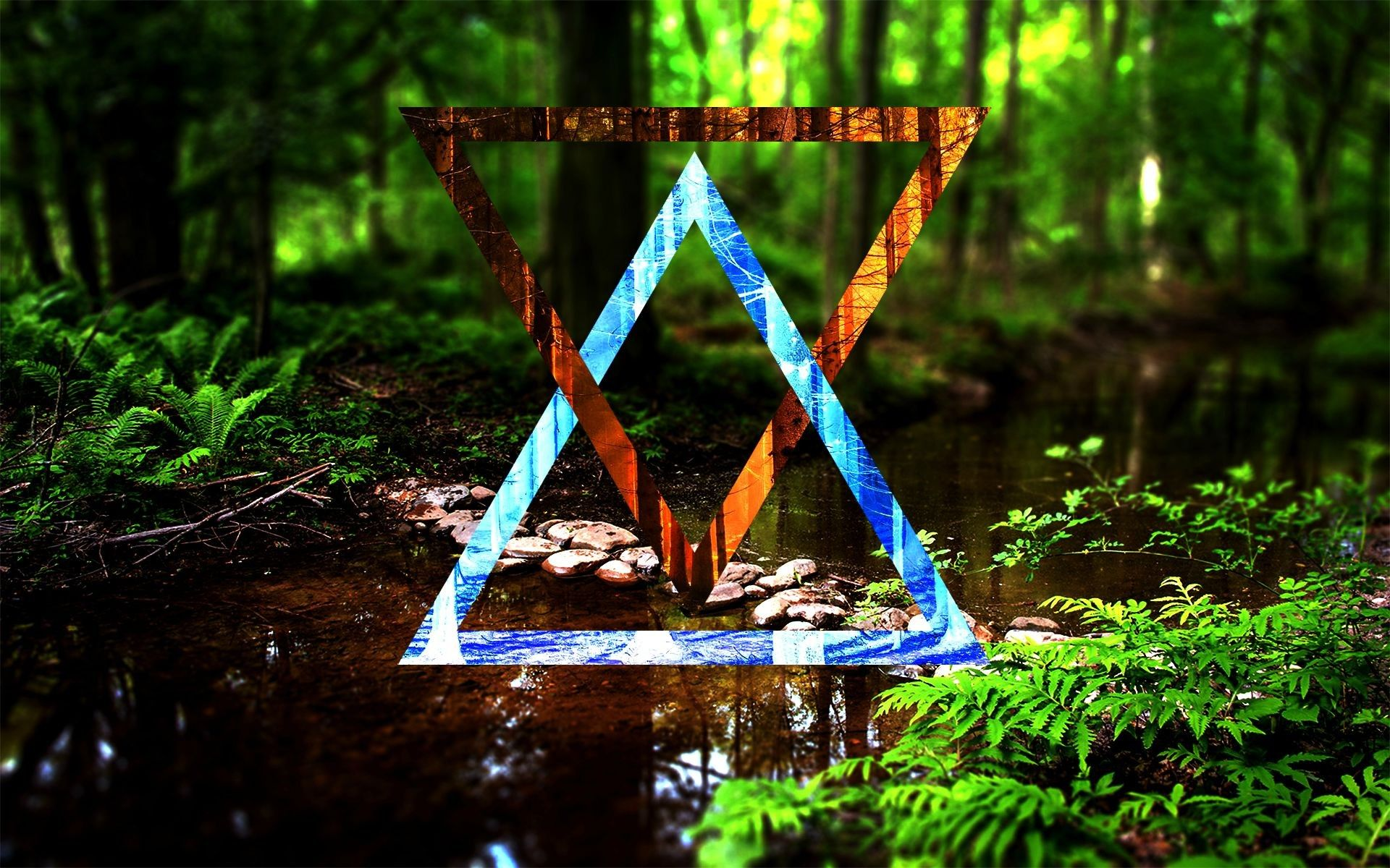 1920x1200 2963382 abstract forest triangle digital art nature ...