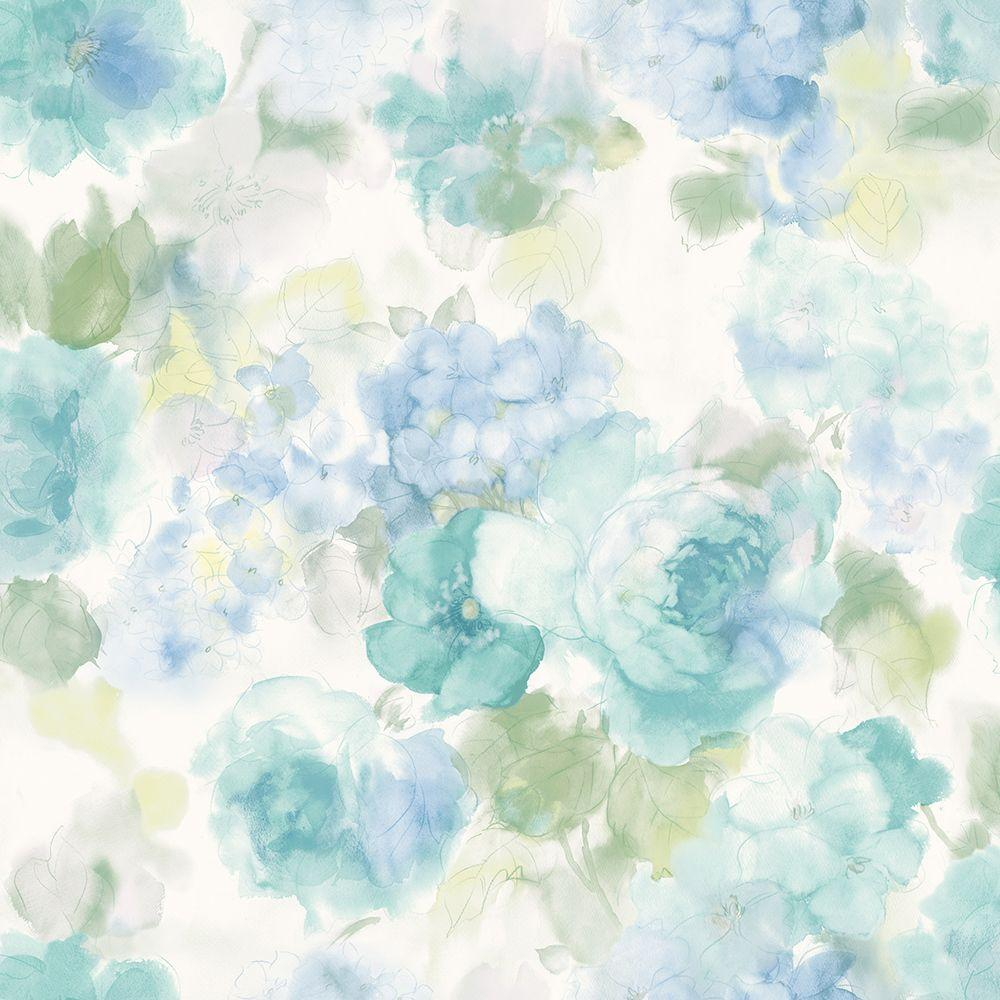 1000x1000 Chesapeake Winifred Blue Japanese Peony Wallpaper-MEA79003 - The ...
